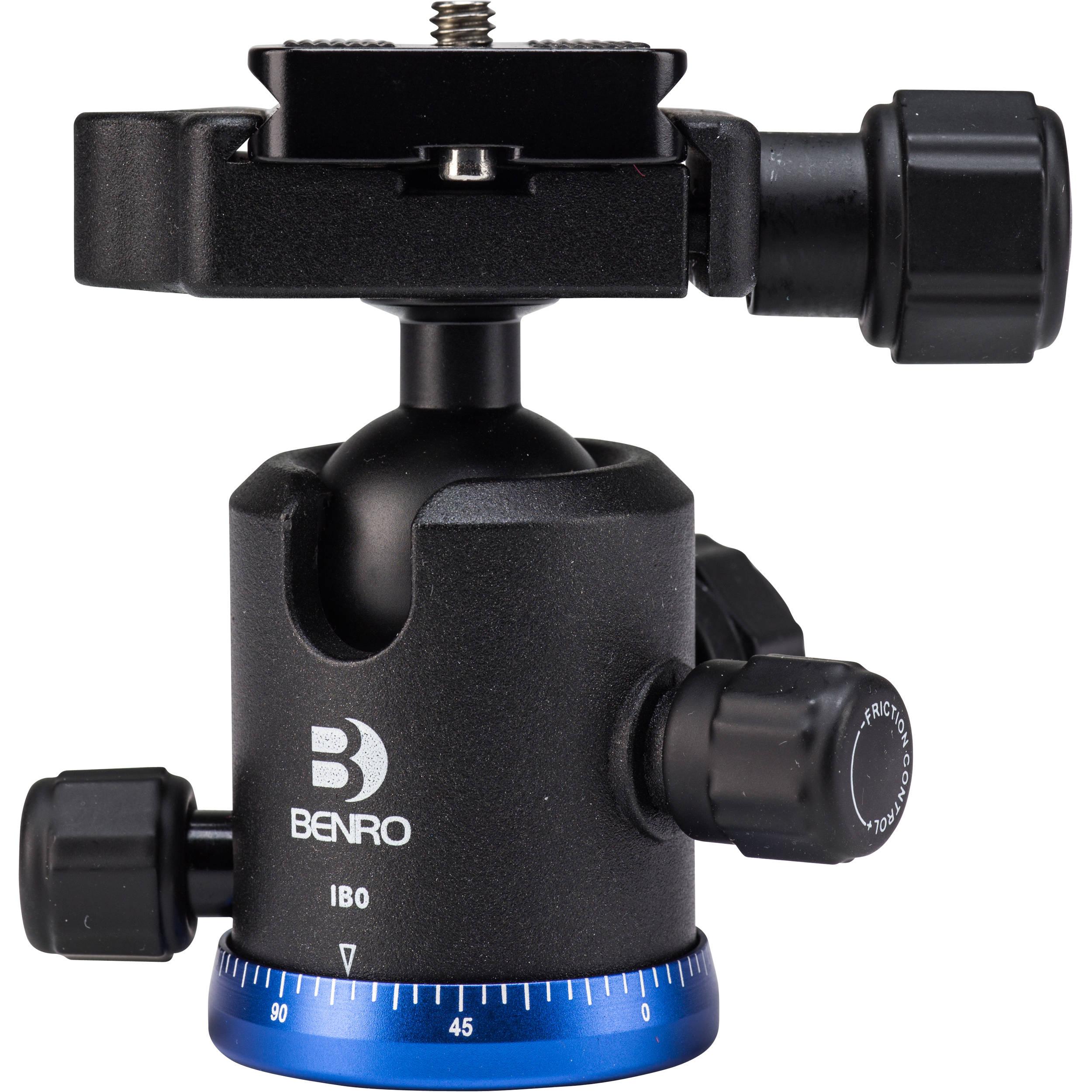 ,Black IB2 Benro Triple Action Ball Head w// PU60 Quick Release Plate