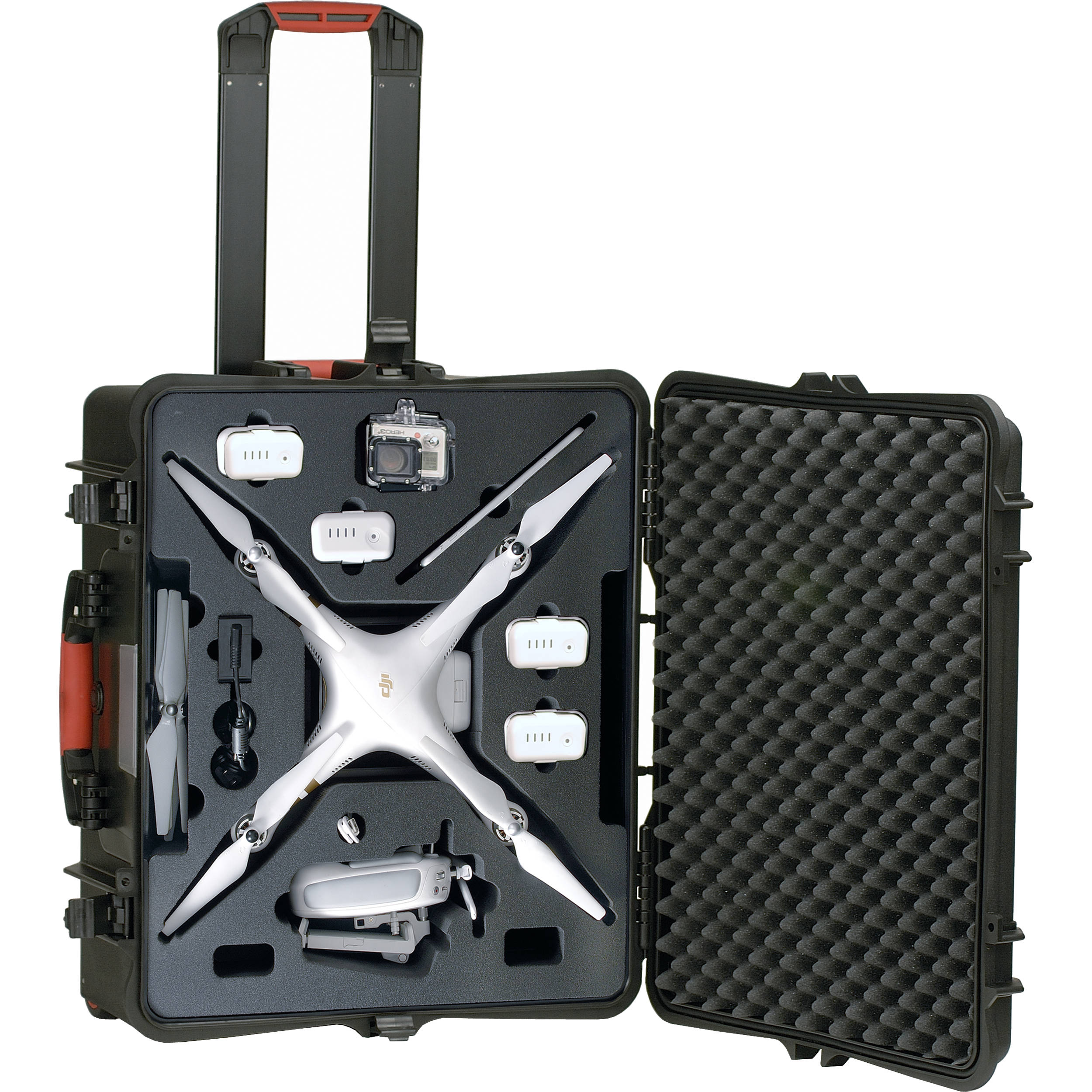 4K Phantom 4 Advanced SE Phantom 4 Pro Drones HUL Premium Aluminium Carrying Case for DJI Phantom 3 Standard Professional