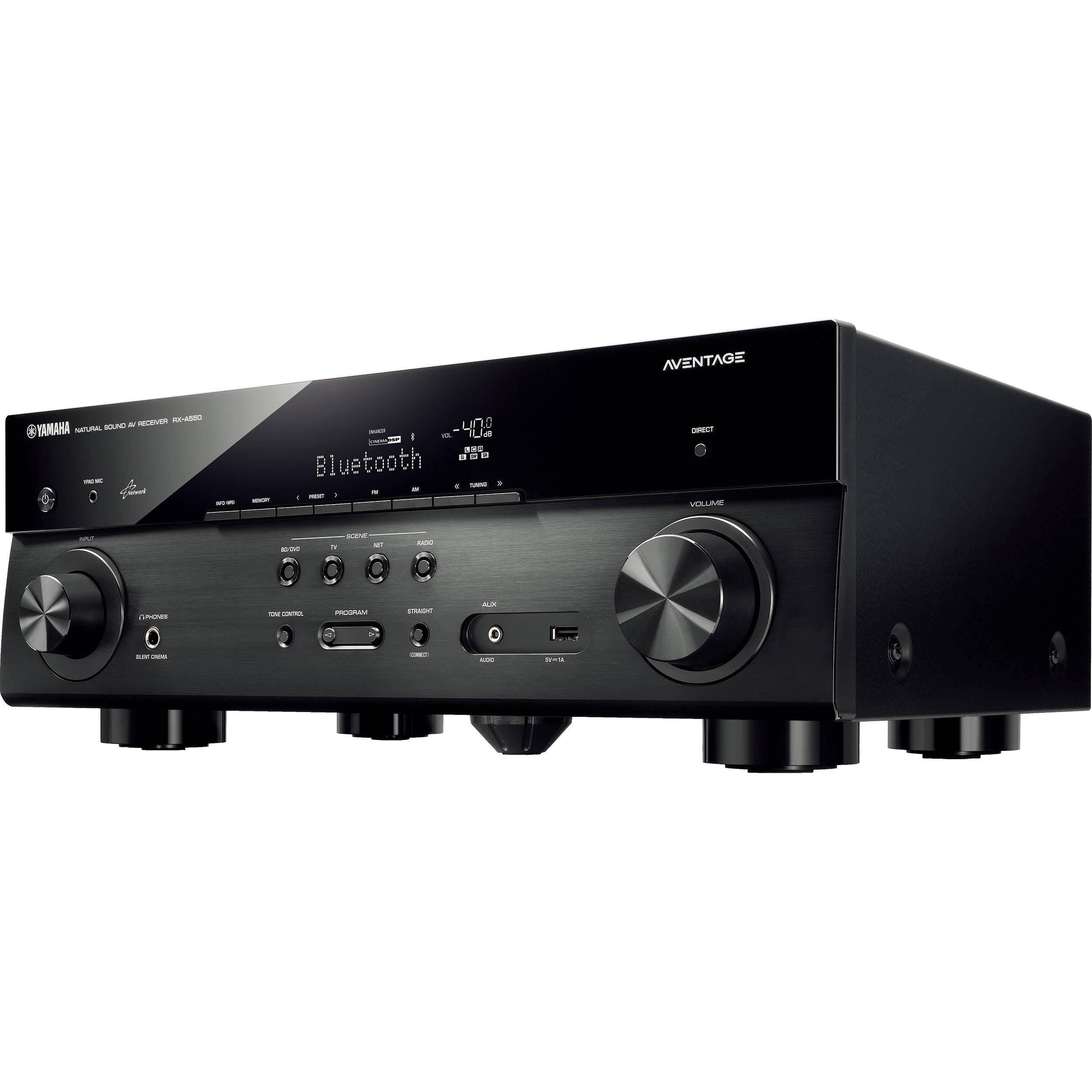 Yamaha AVENTAGE RX-A550BL 5 1-Channel Network AV Receiver (Black)