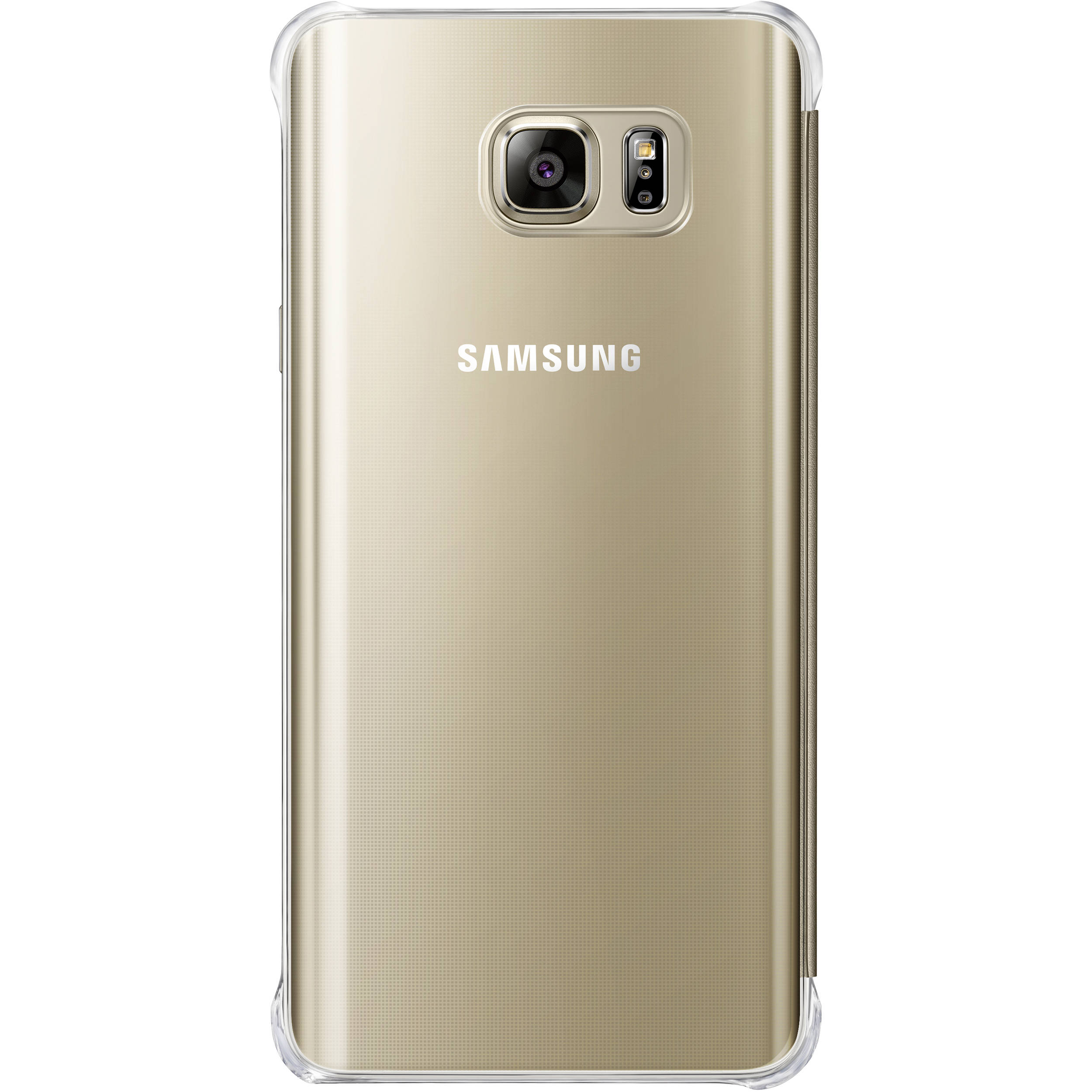 big sale 932d9 6e91c Samsung S-View Flip Cover for Galaxy Note 5 (Clear Gold)