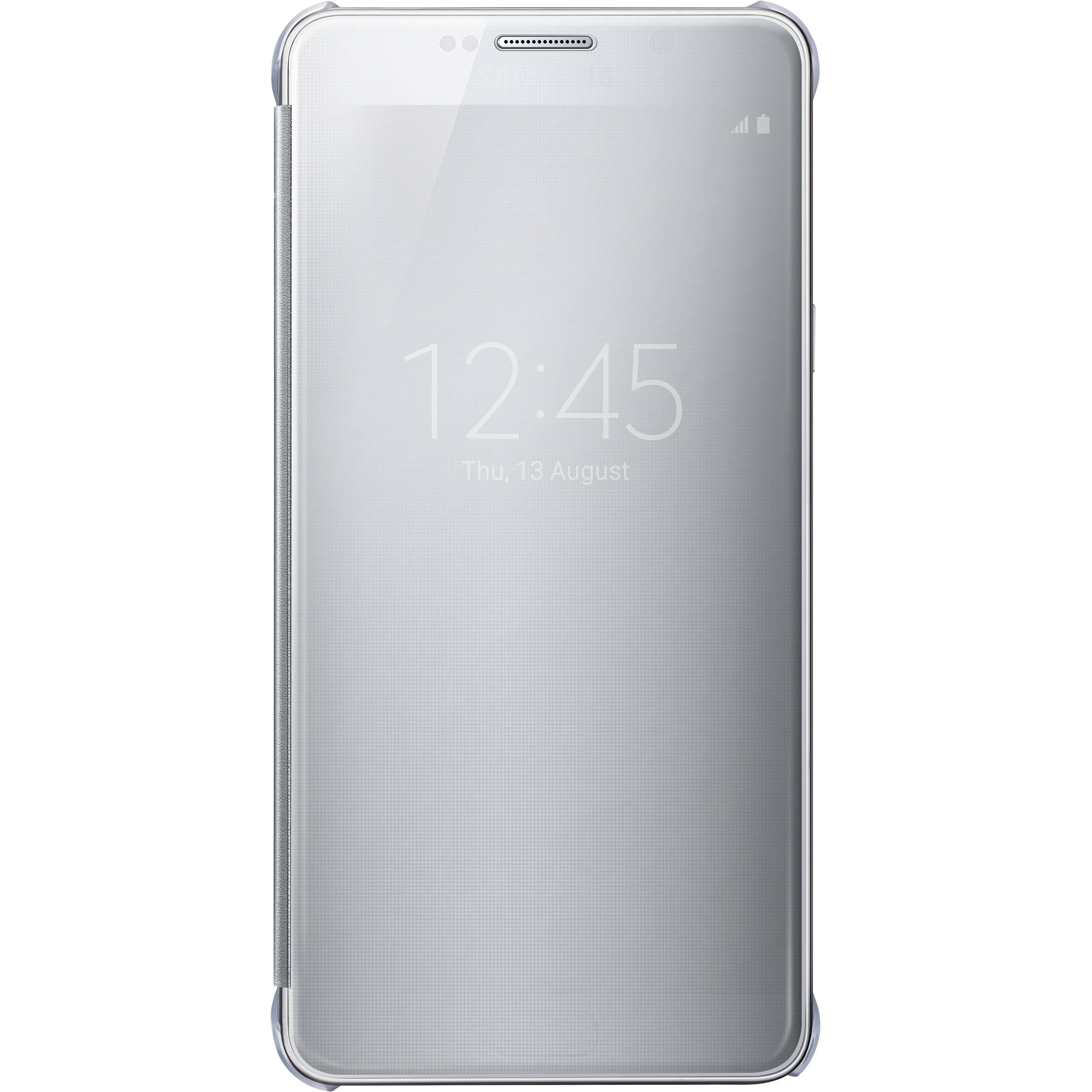 new product adc48 dd3a2 Samsung S-View Flip Cover for Galaxy Note 5 (Clear Silver)