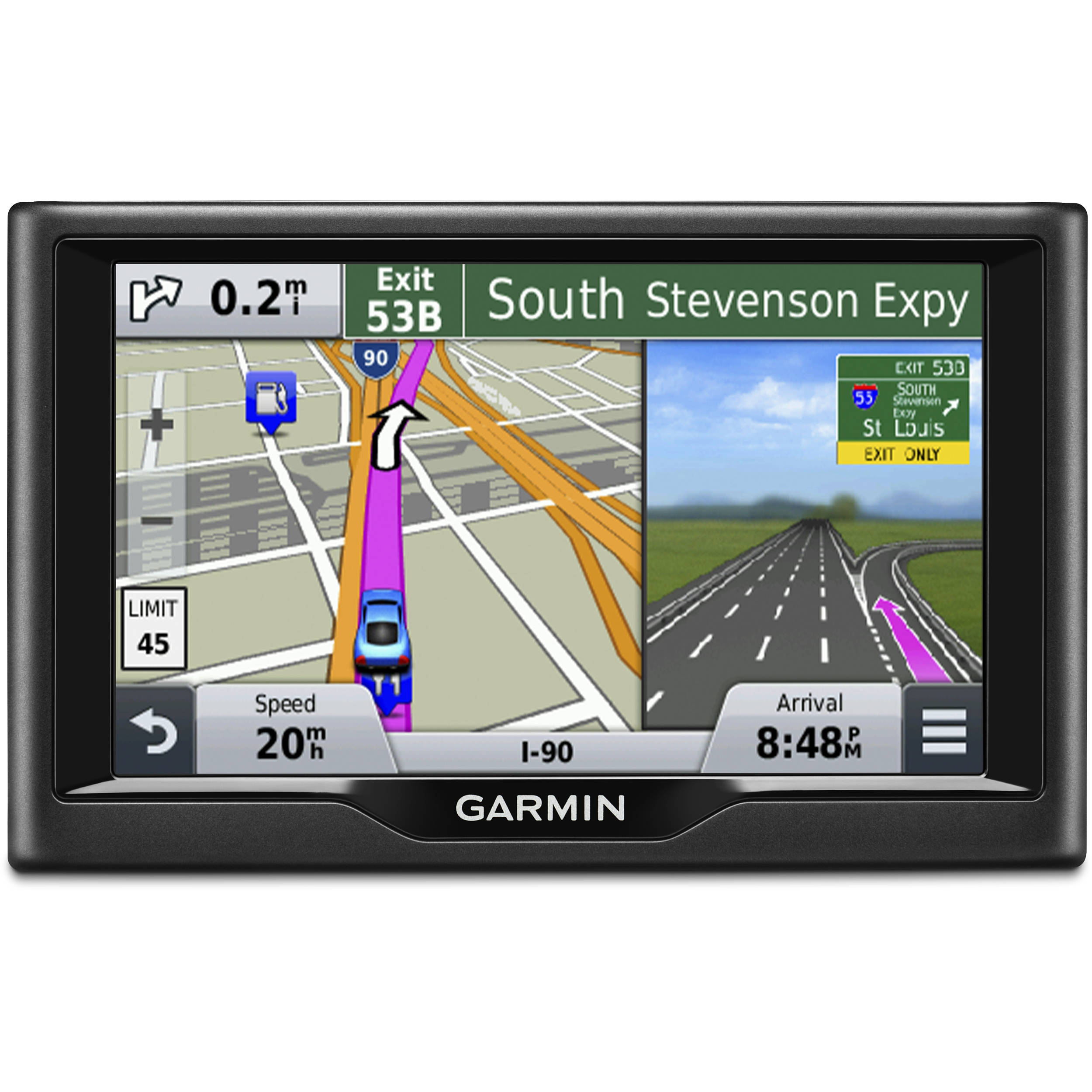 Maps Map Updates Garmin United States >> Garmin Nuvi 58lm Gps With U S And Canada Maps