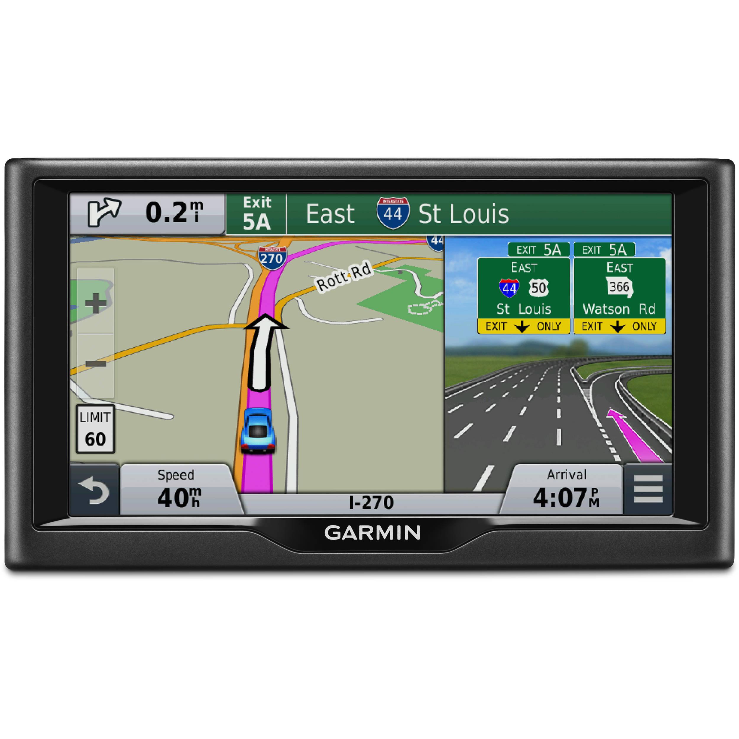 Canada Map For Garmin Nuvi Garmin nuvi 68LMT GPS With U.S. and Canada Maps 010 01399 05 B&H