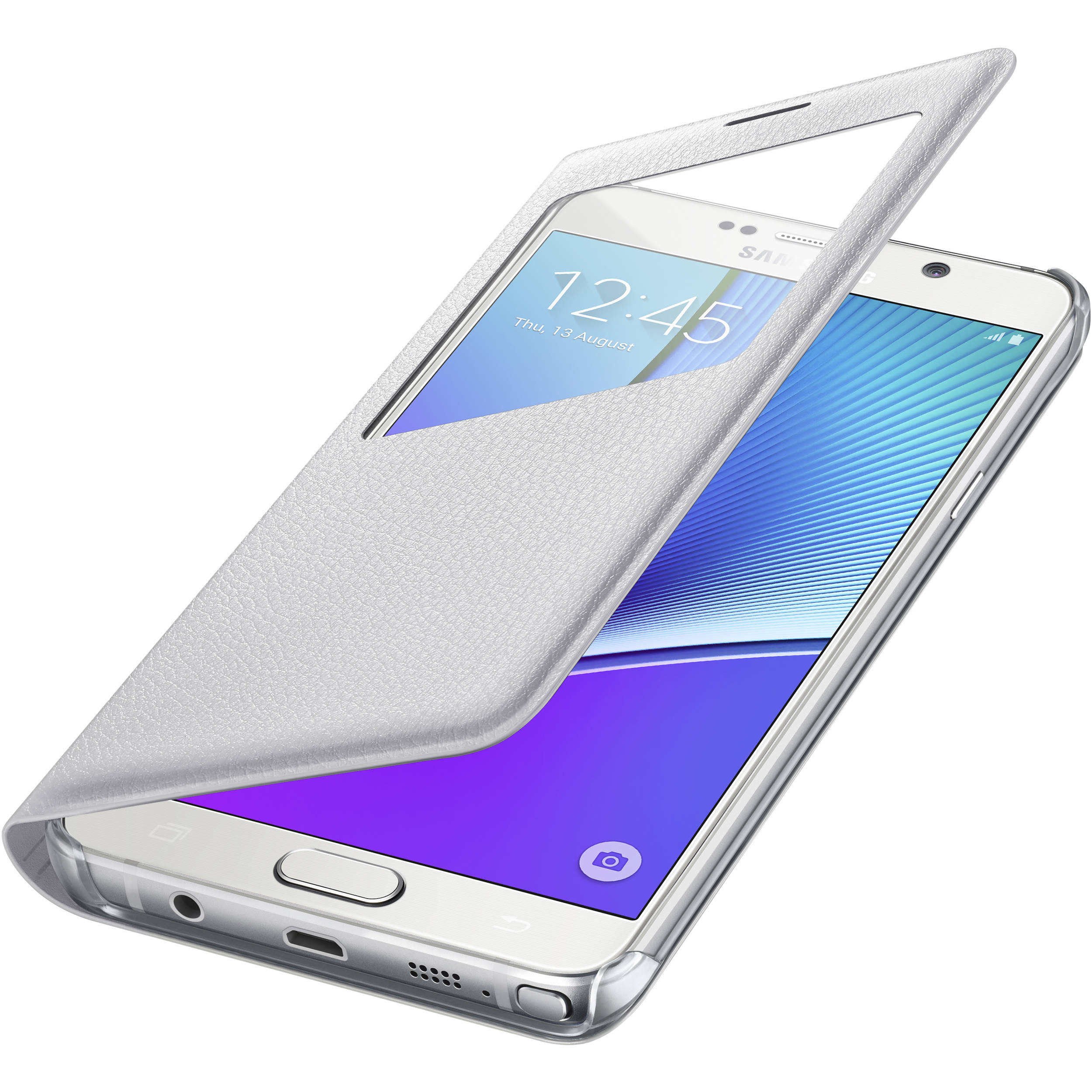 premium selection 72193 682d7 Samsung S-View Flip Cover for Galaxy Note 5 (White)