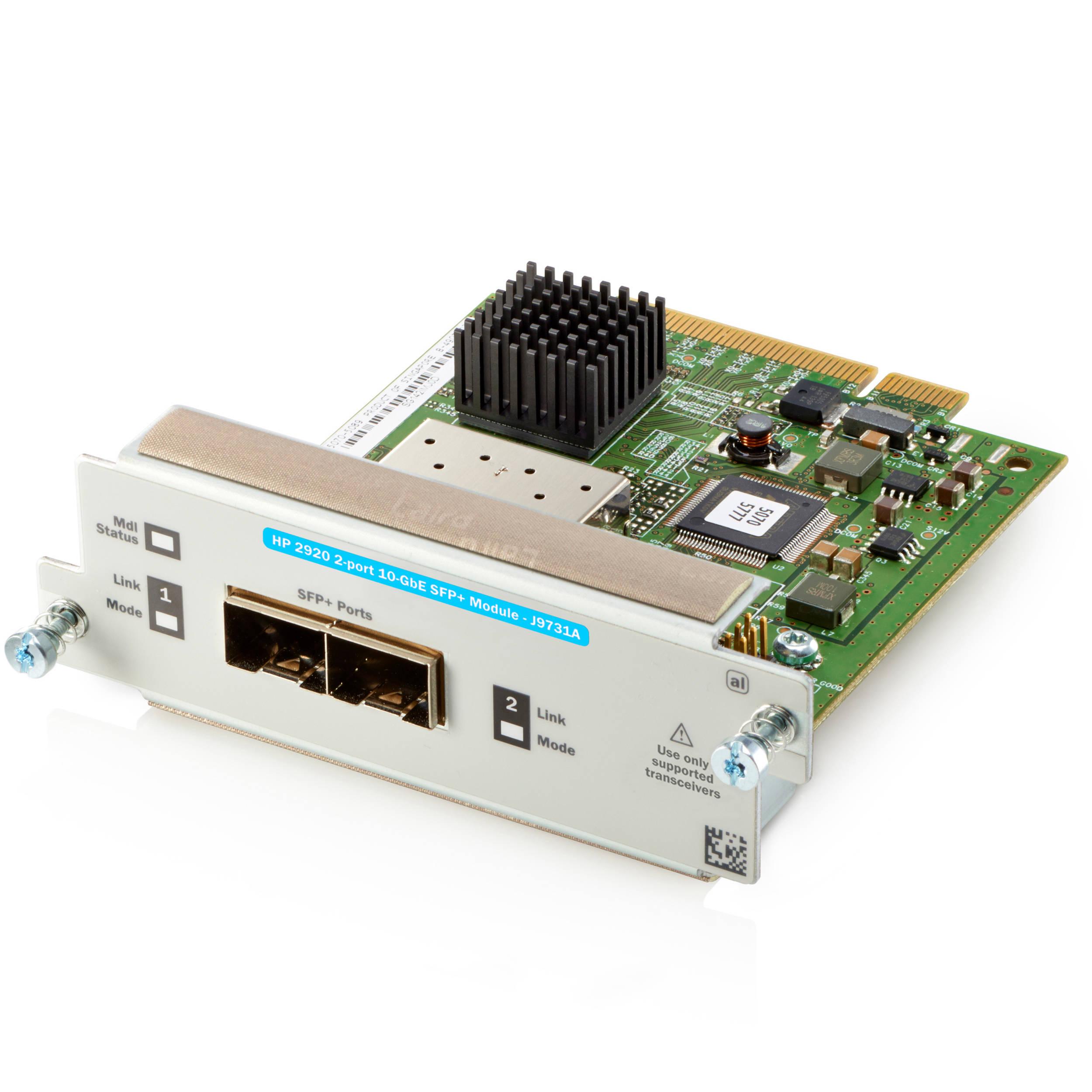 HP Aruba 2920 2-Port 10GbE SFP+ Module