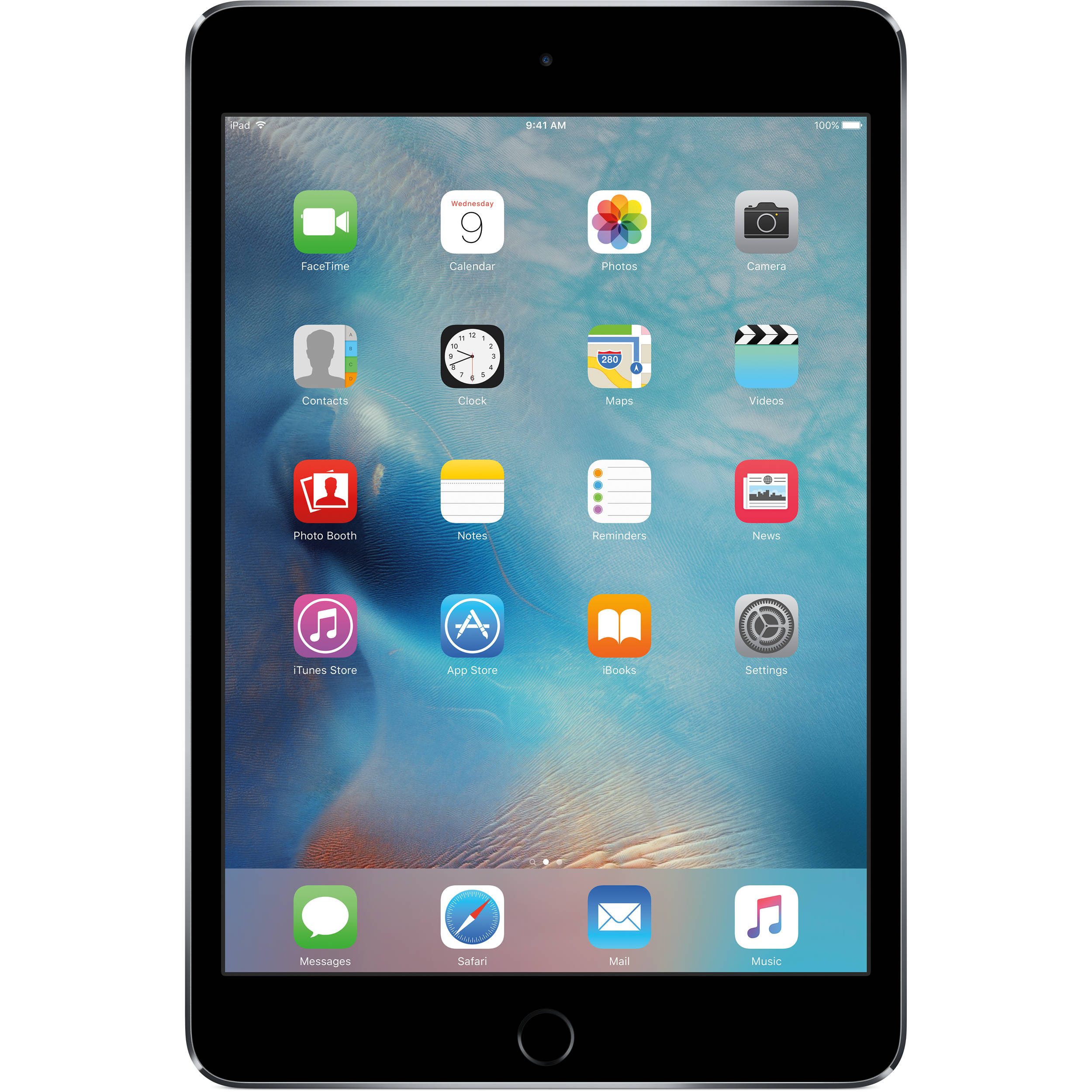 AppleiPad mini 4 128GB Space Gray BOX ONLY with Stickers and Sim Tool.
