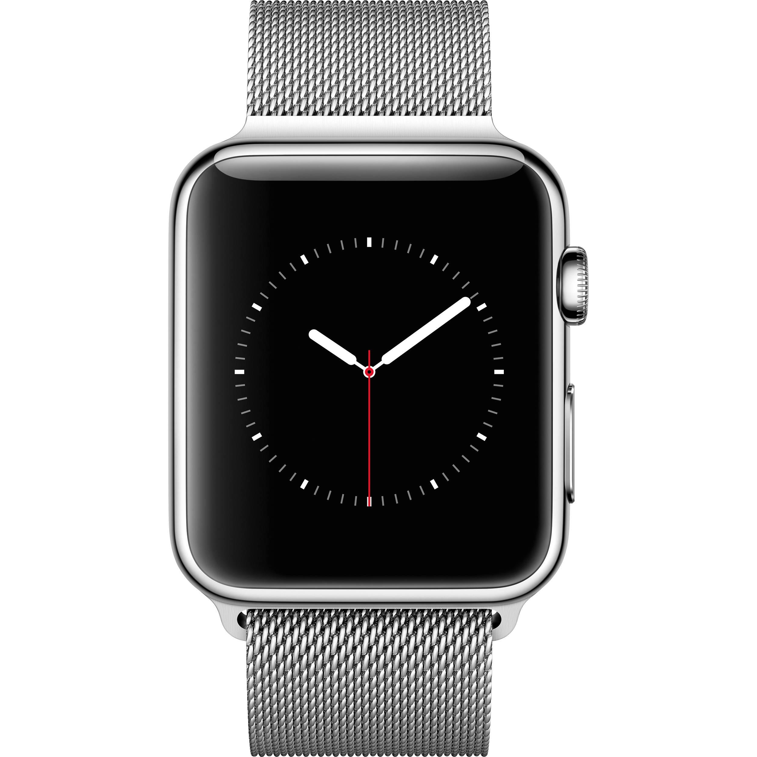promo code ee766 96904 Apple Watch 42mm Smartwatch (2015, Stainless Steel Case, Milanese Loop Band)