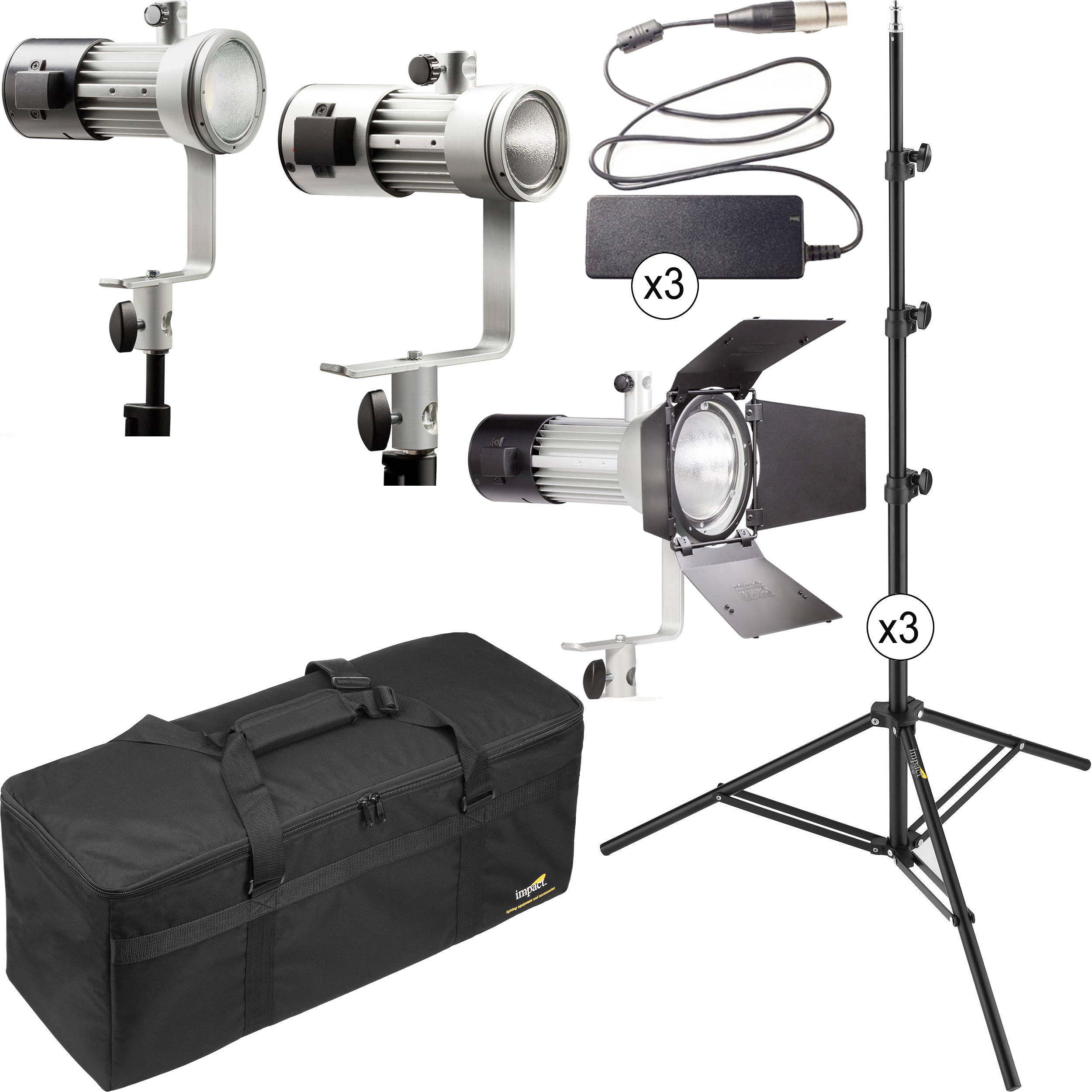 Ianiro Mintaka Mini Medium And Maxi Daylight Led 3 Light Kit