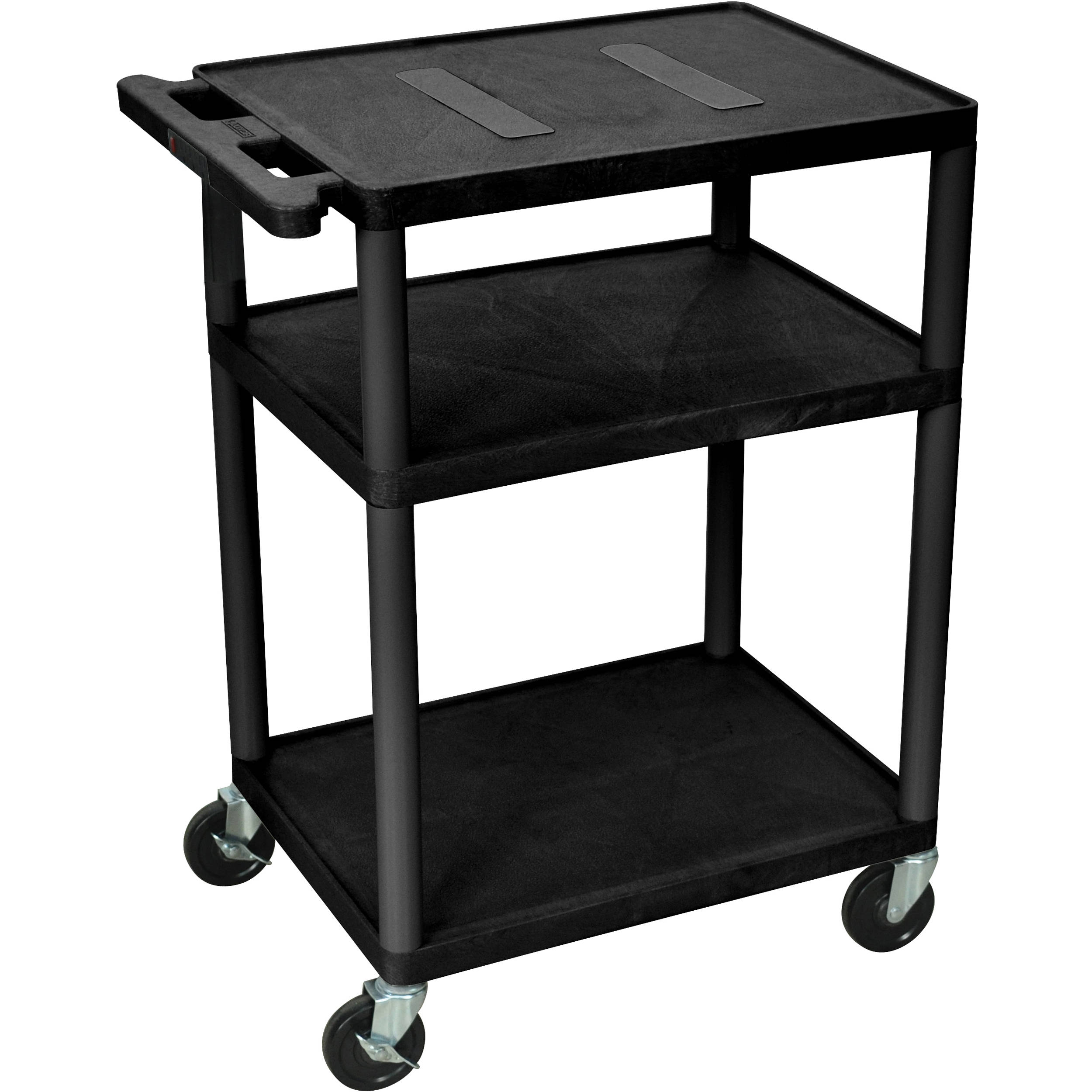 Endura 3 Shelf Multimedia Cart Le34 B H
