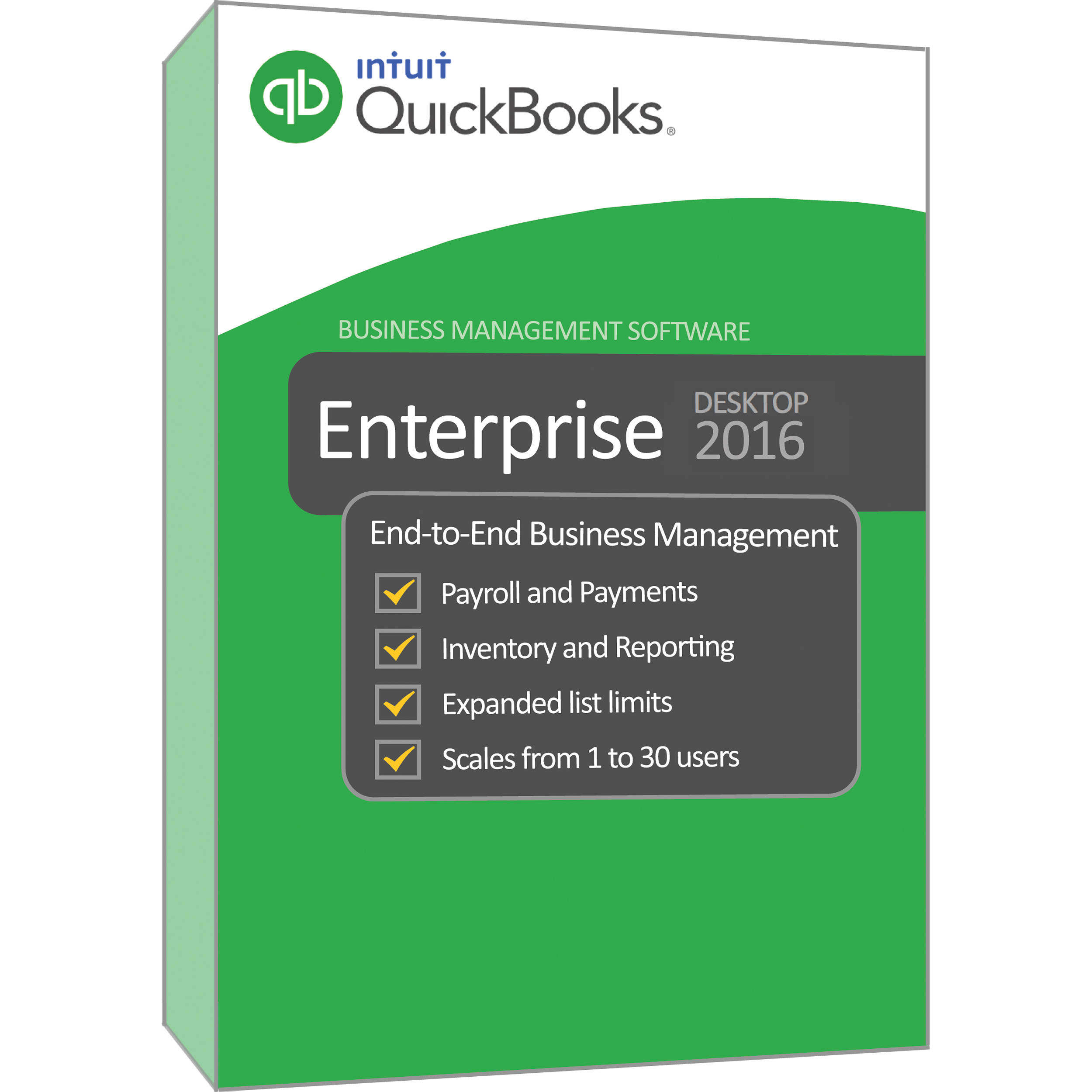 Intuit QuickBooks 2016 Enterprise Solution Platinum (Download, 1-Year  Subscription, 5-Users)