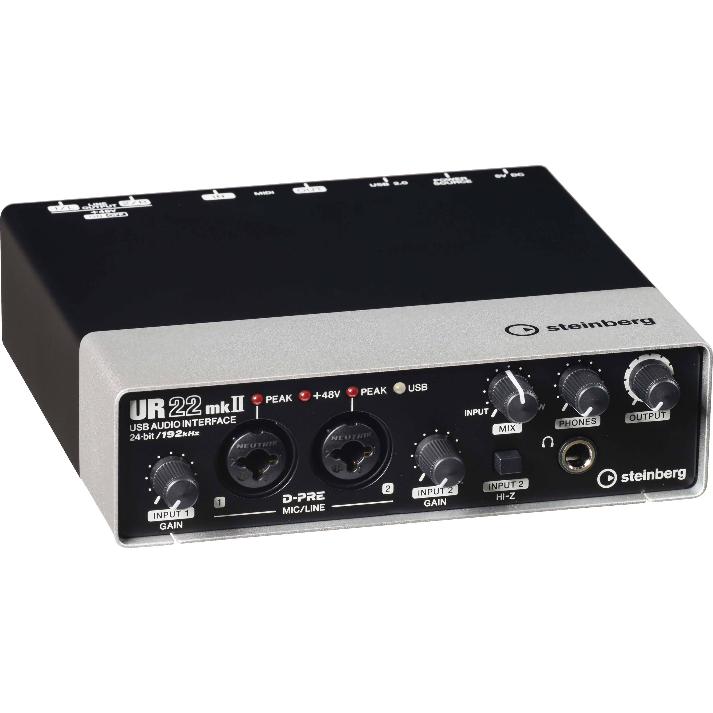 Steinberg UR22mkII - USB 2 0 Audio Interface with Dual Microphone Preamps