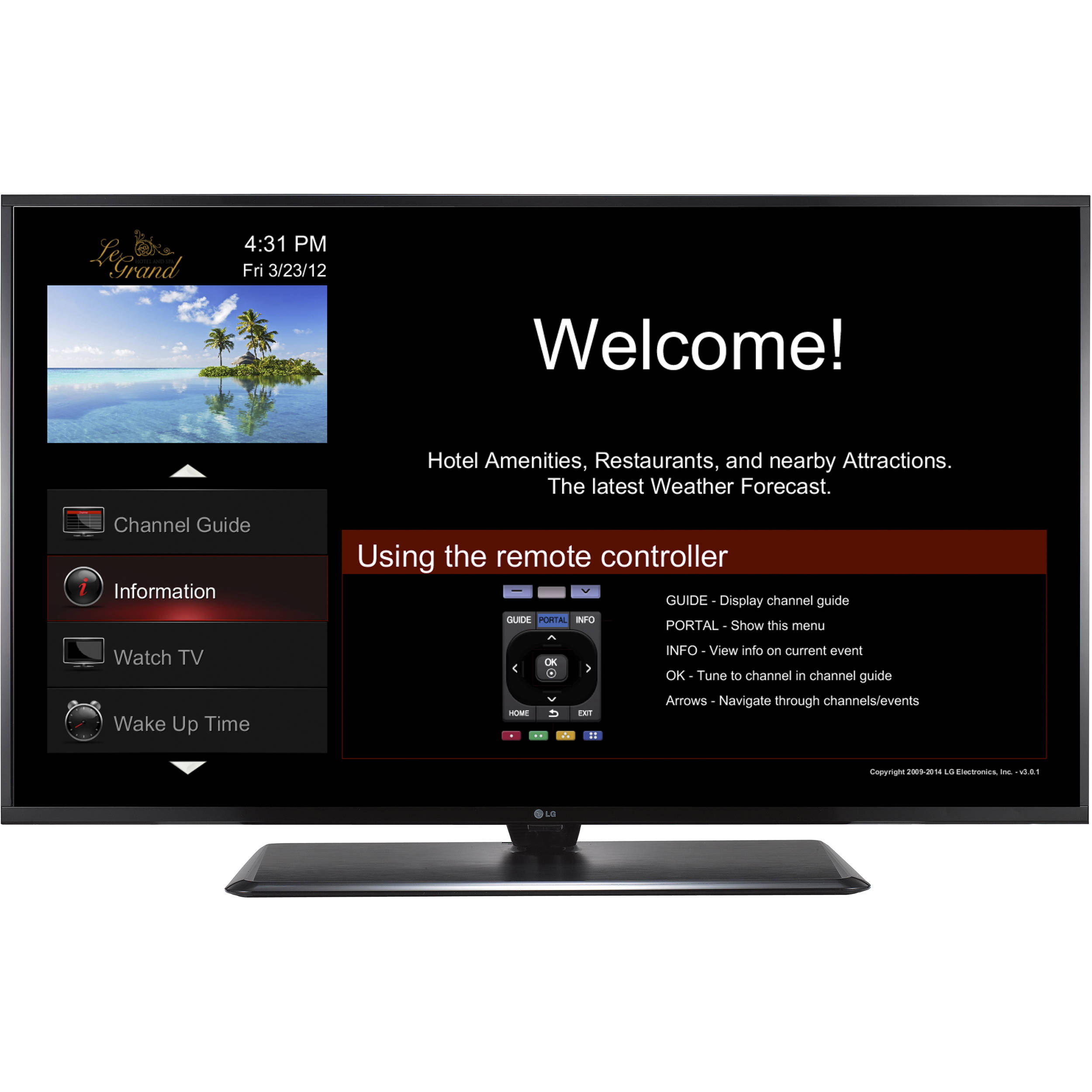 LG 49LX570H Pro:Centric Single-Tuner LED TV with Integrated Pro:Idiom and  b-LAN Technology (49