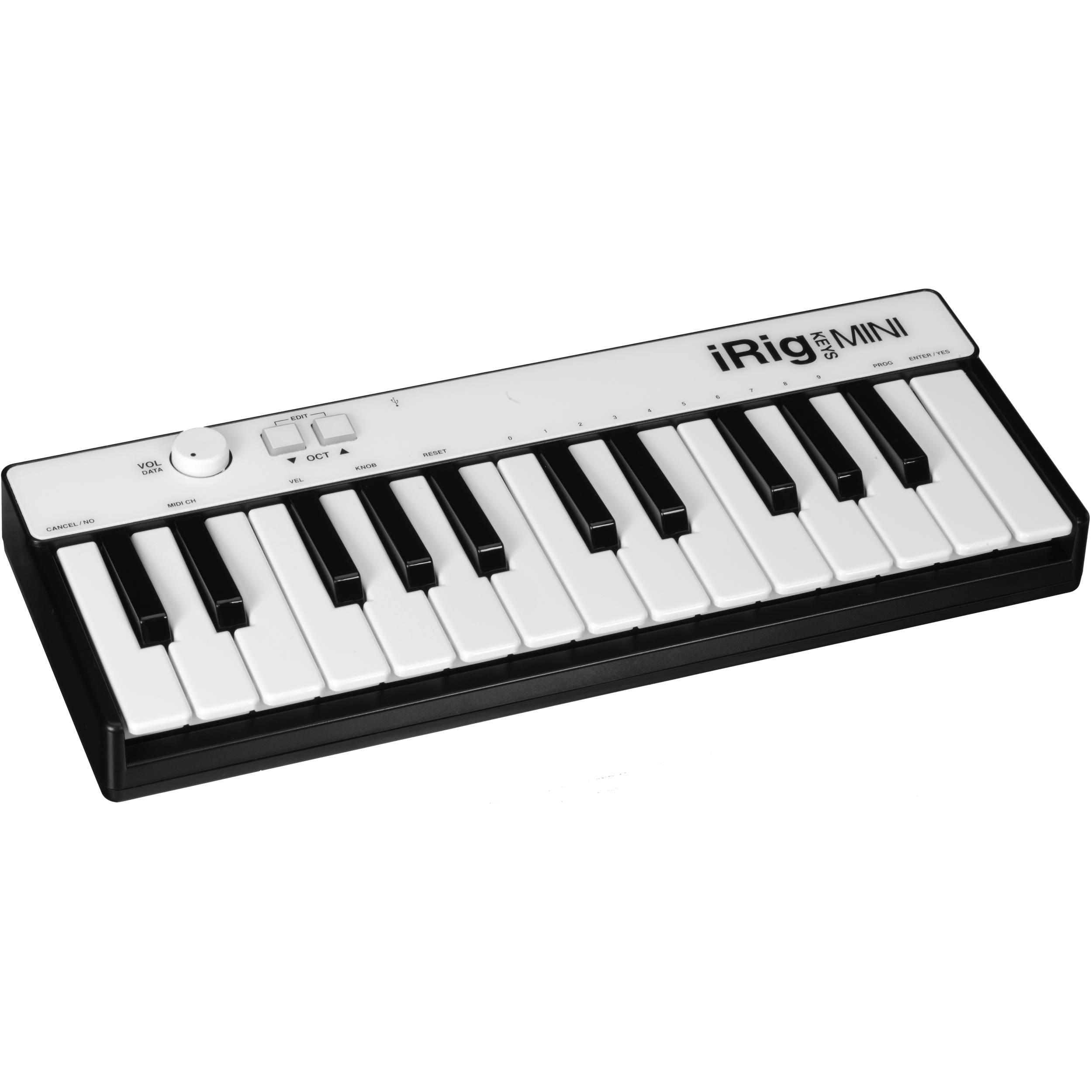 IK Multimedia iRig Keys Mini MIDI Controller for iPhone, iPod touch, iPad &  Mac/PC