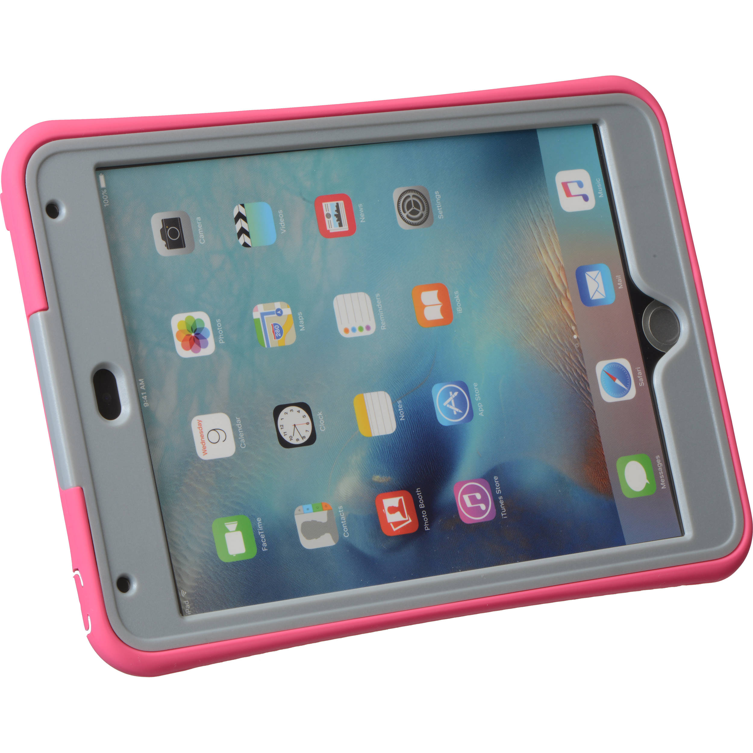 factory authentic ea66a a6de6 Griffin Technology Survivor Slim Case for iPad mini 4 (Honeysuckle/Mineral  Gray)