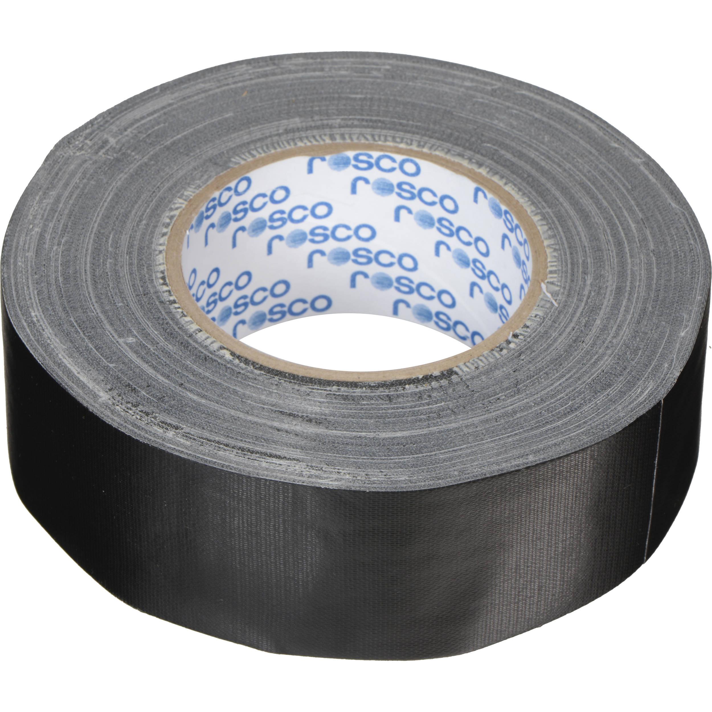 Gaff Tape Black 2 Inch X 30 Yard Roll Main Stage Gaffers Easy Tear No Reflection