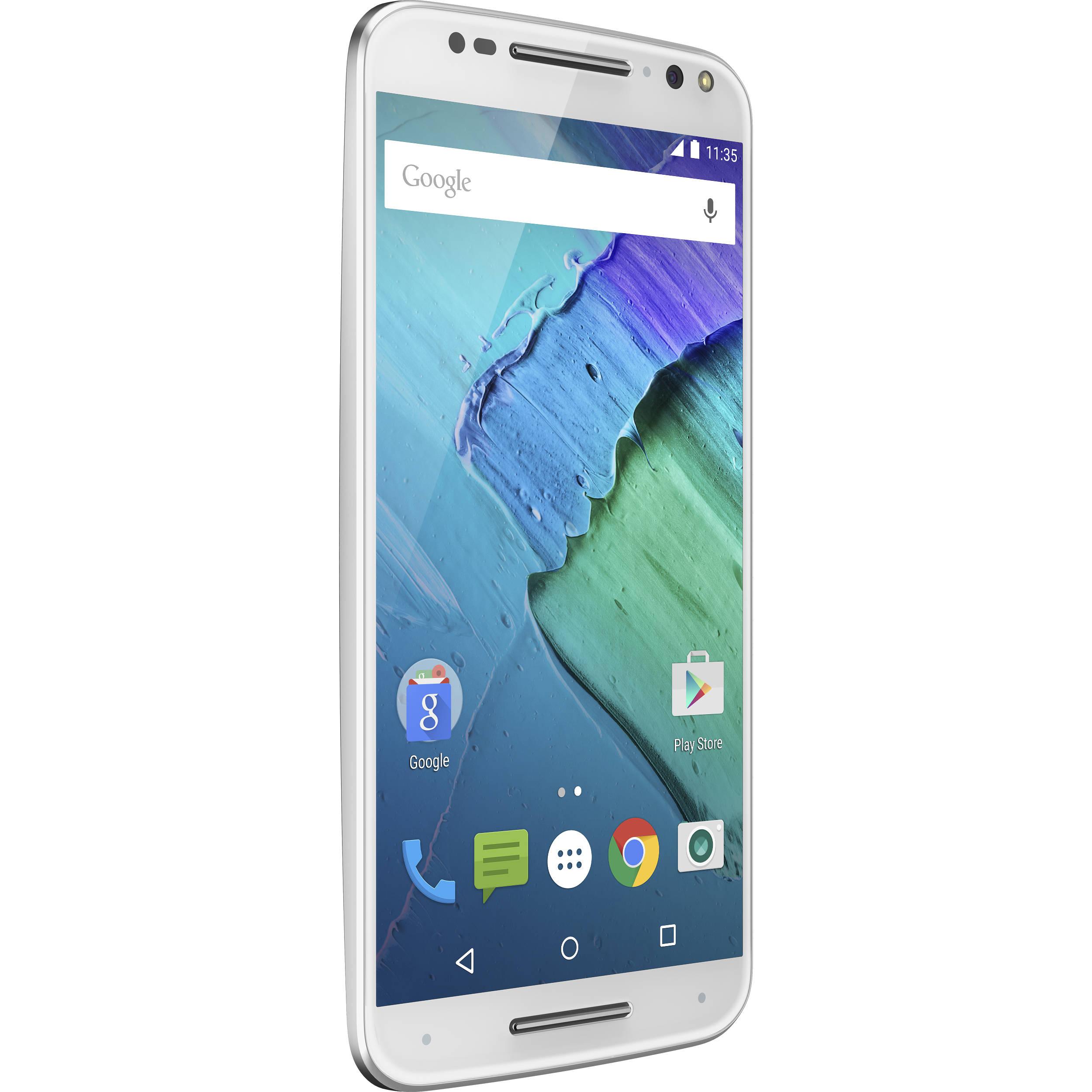buy popular 20a76 a8cc0 Moto X Pure Edition 64GB Smartphone (Unlocked, White/Bamboo)