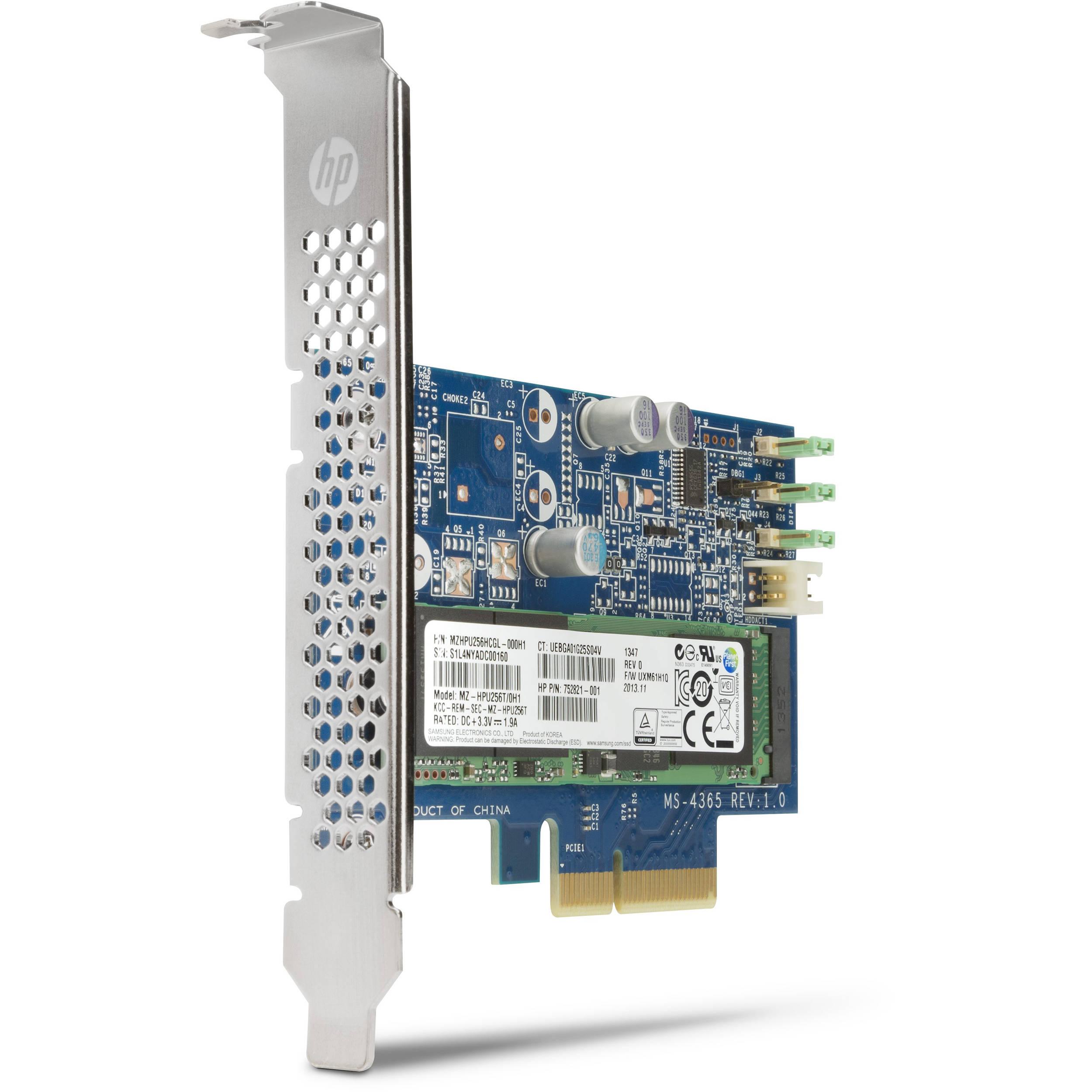HP 256GB Z Turbo Drive G1 M.2 PCIe Internal SSD N8T11AT B&H