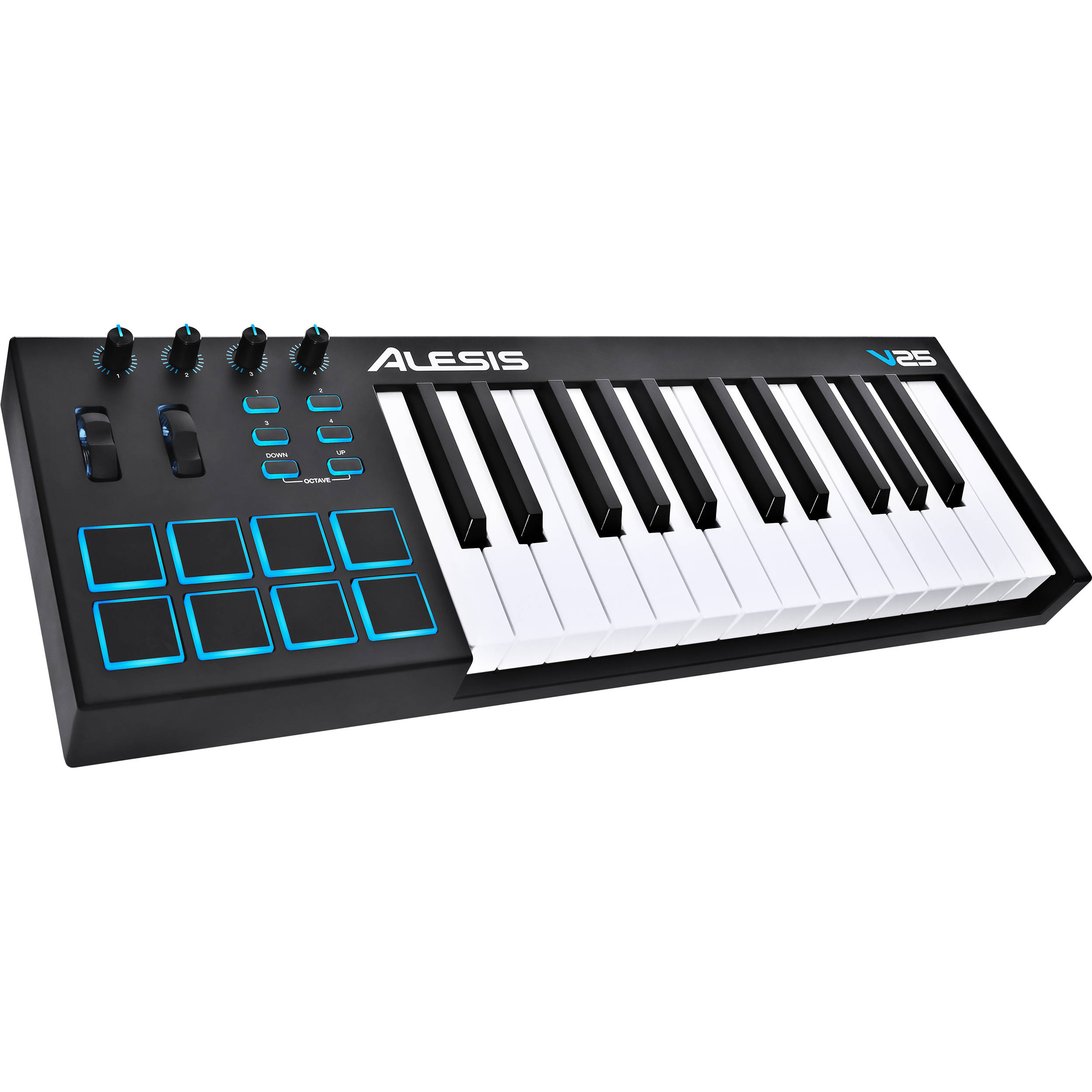 Alesis V25 25-Key USB MIDI Keyboard Controller V25 B&H Photo
