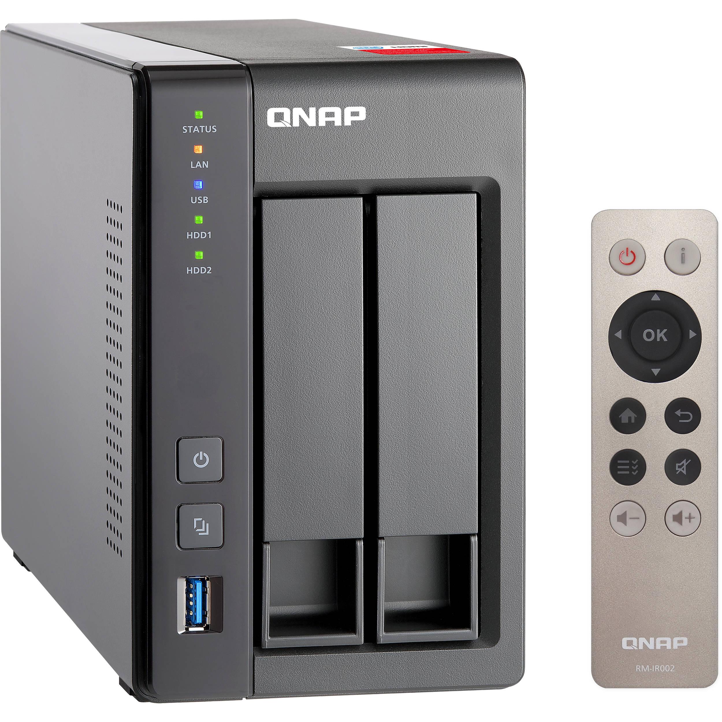 QNAP TS-251+ 2-Bay Home and SOHO NAS Enclosure
