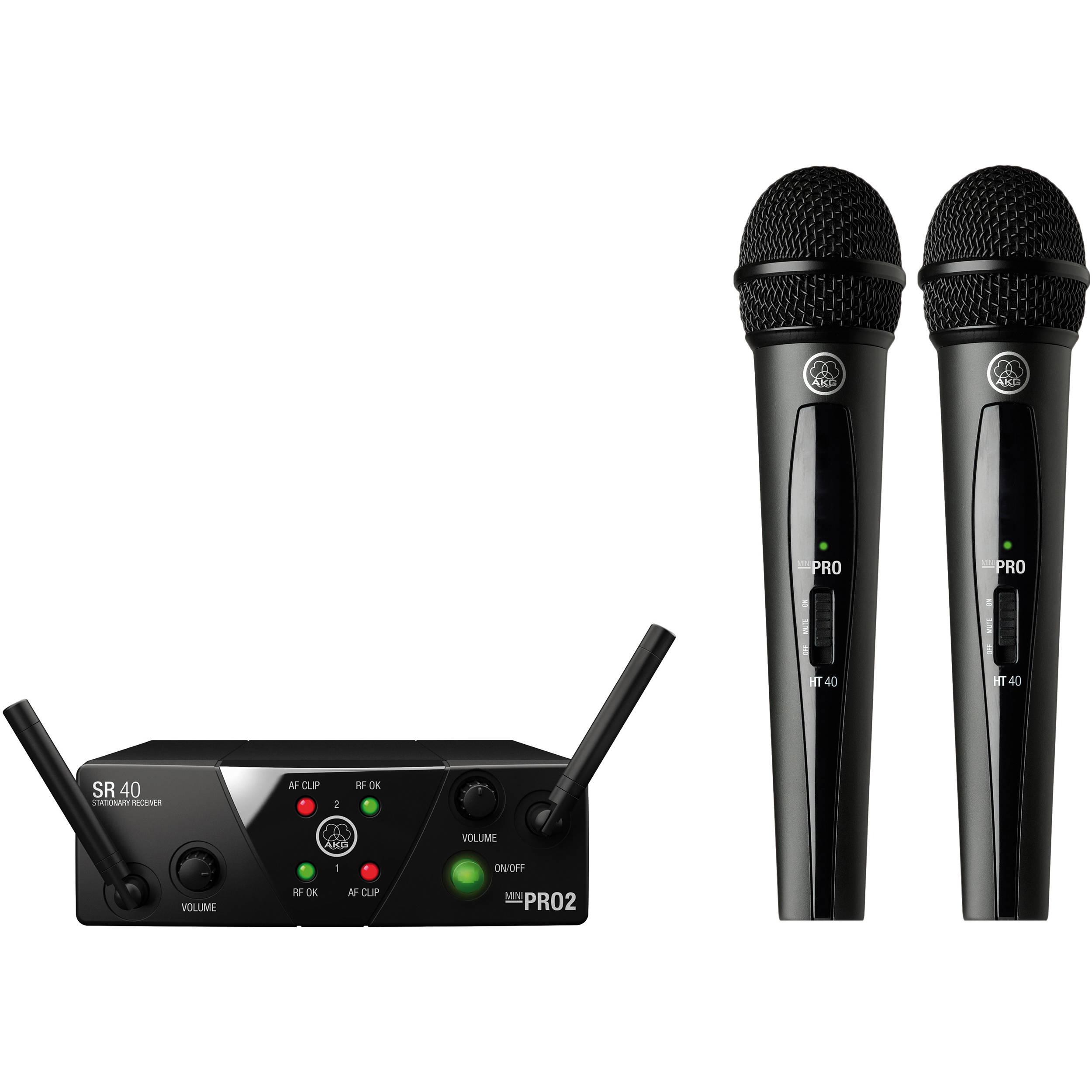 AKG WMS40 Mini2 Mix Set Dual US45A/C