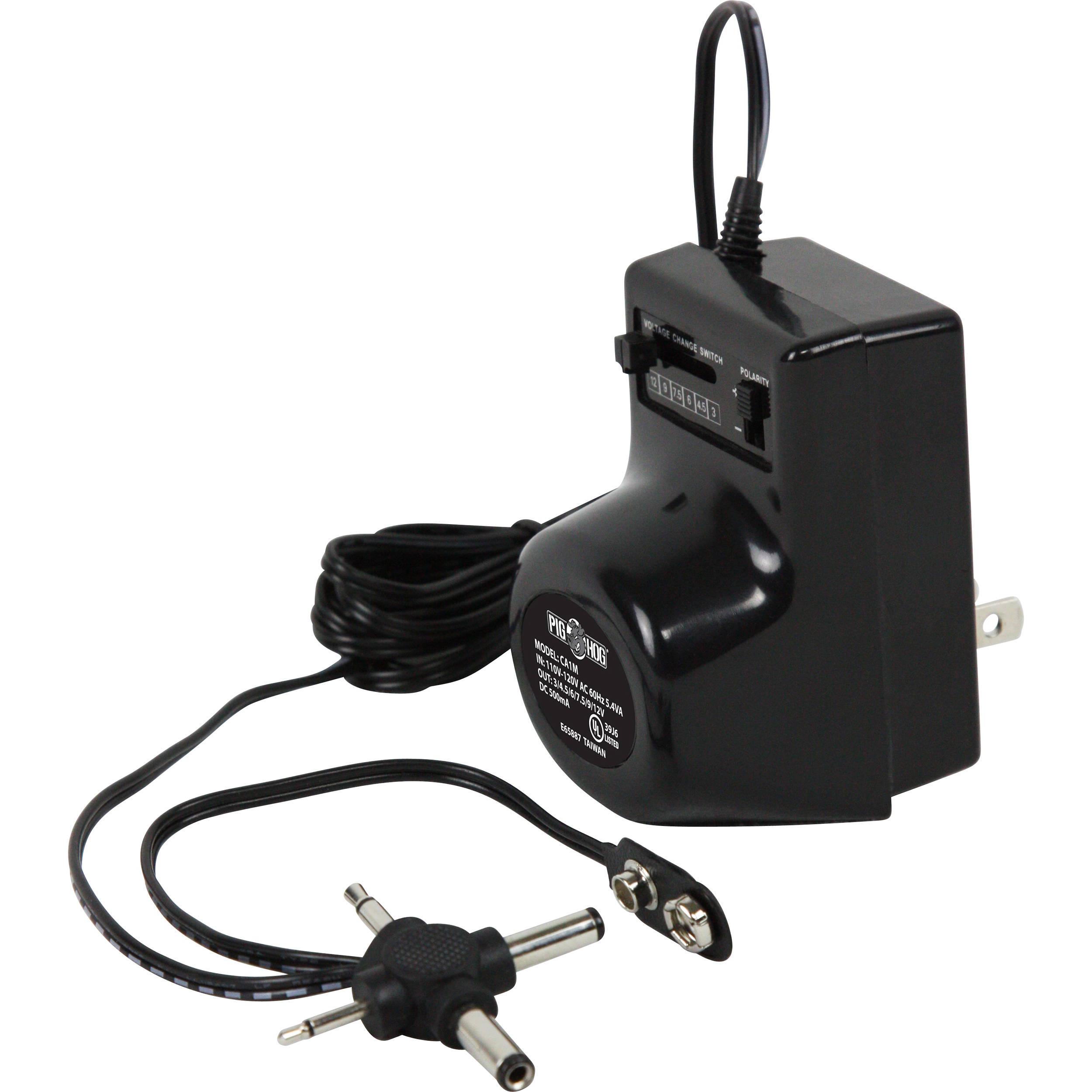 Pig Hog Pig Power 500 mA DC Multi-Adapter