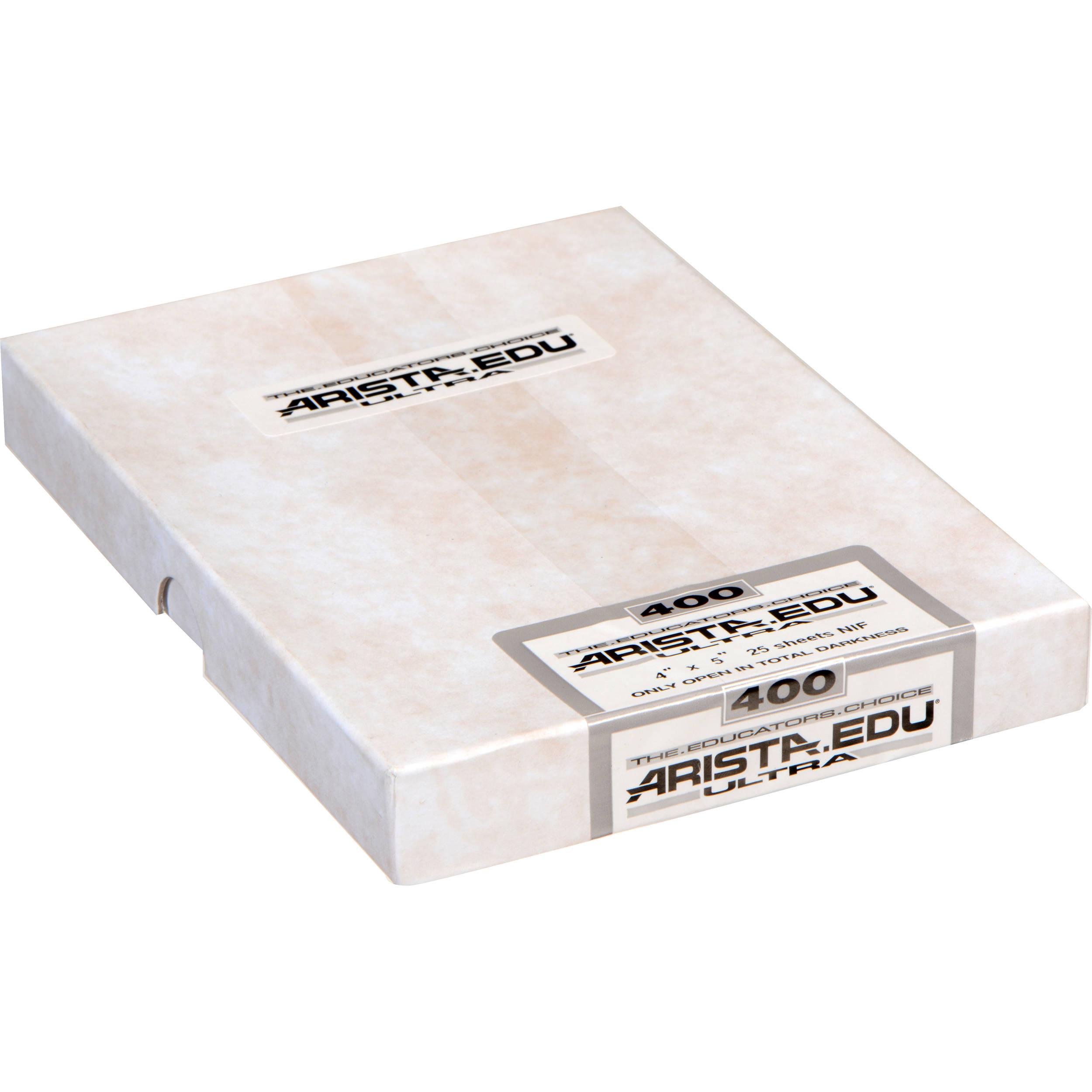 50 Sheets Arista EDU Ultra 400 ISO Black /& White Film 8x10