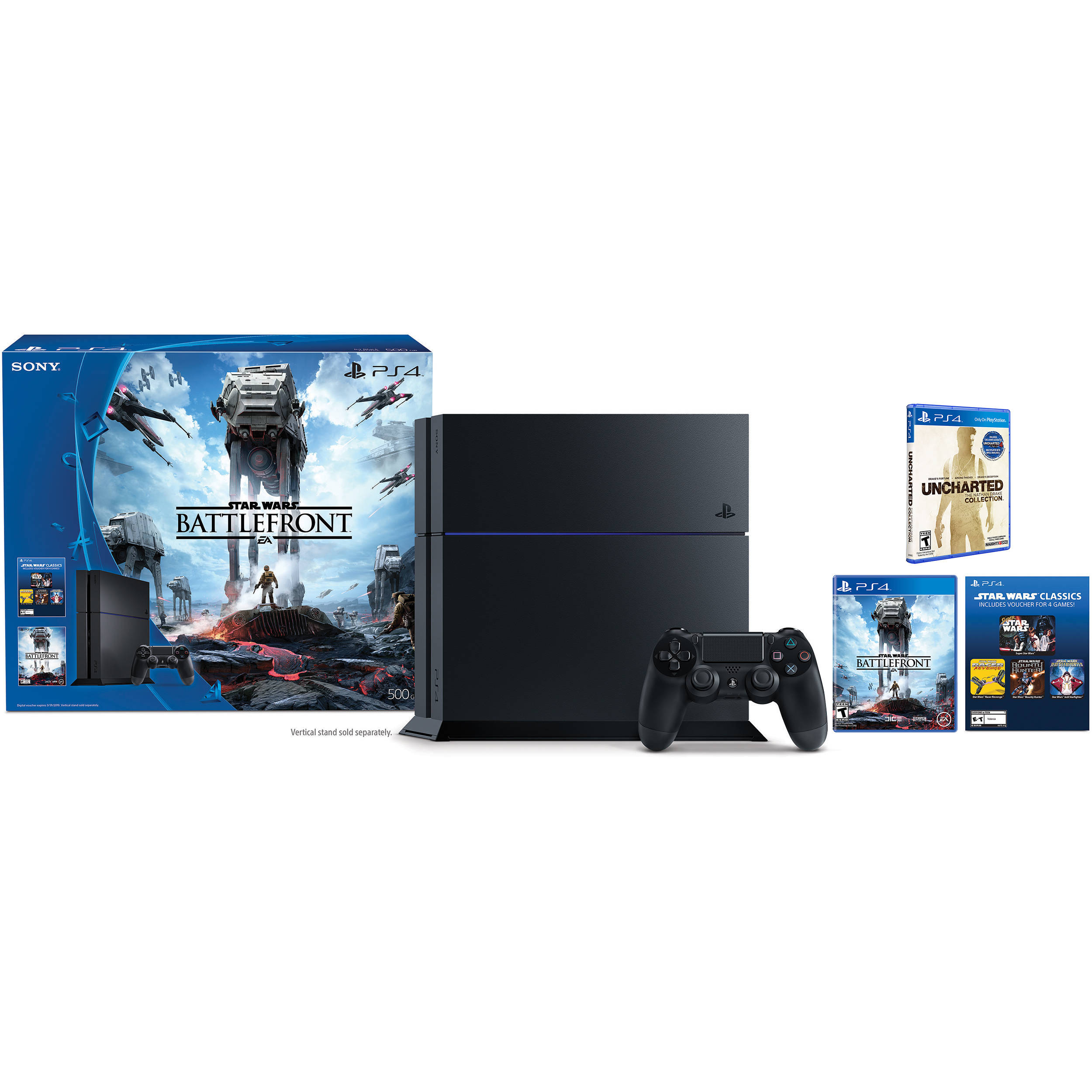Sony Playstation 4 Star Wars Battlefront Bundle With Uncharted The Nathan Drake Collection Kit