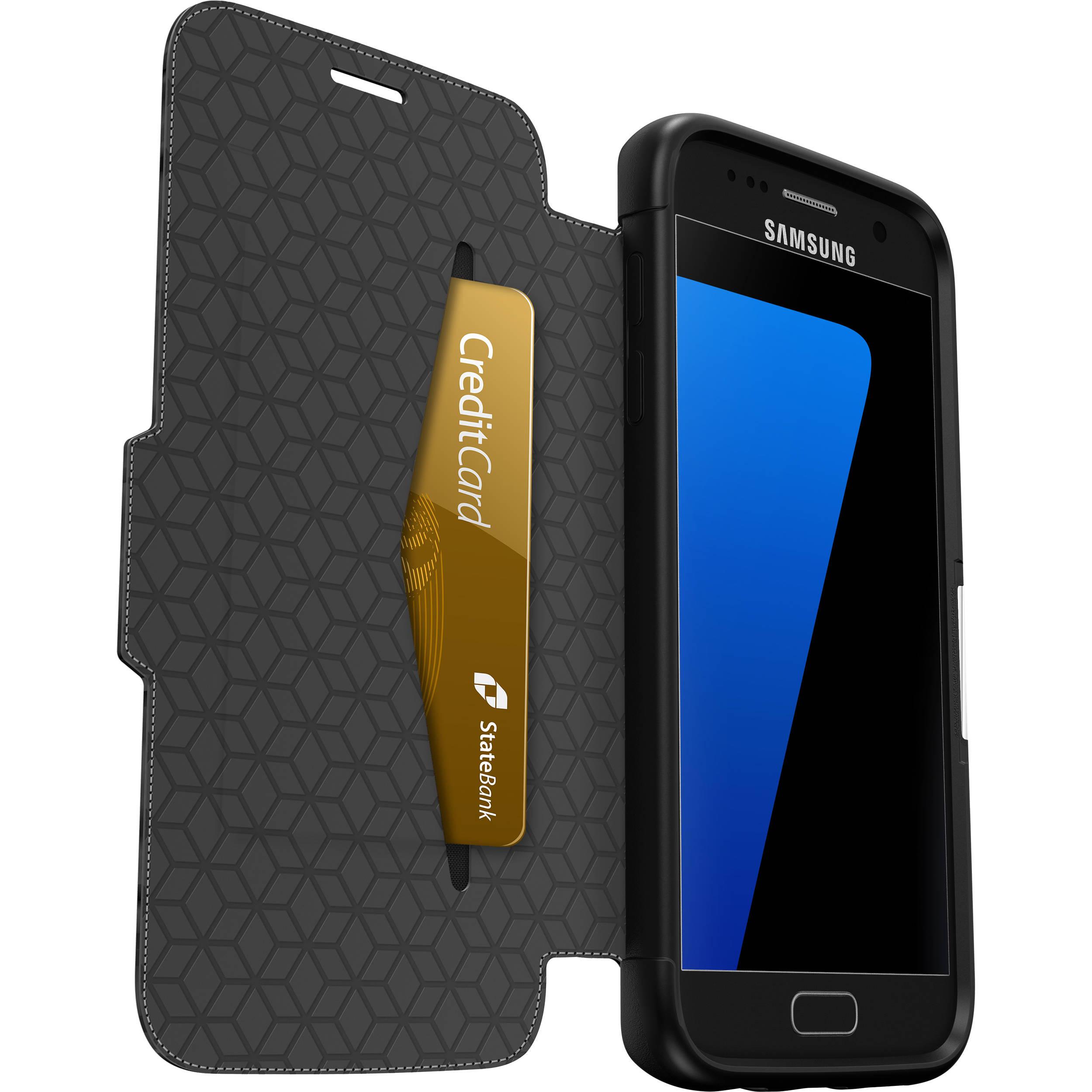 promo code 8ea01 bd99d OtterBox Strada Case for Galaxy S7 (Onyx Black)