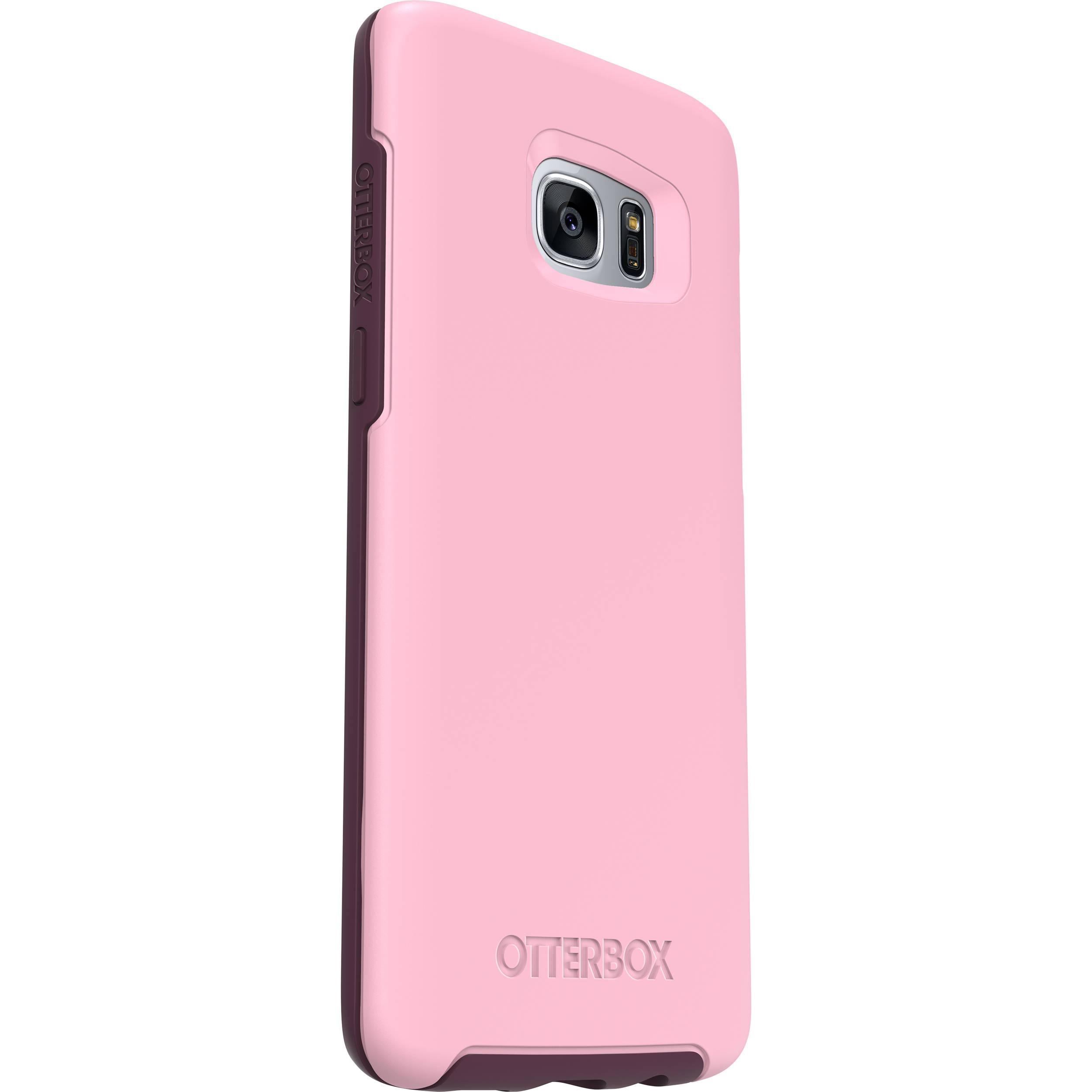 sports shoes b9855 bd1ac OtterBox Symmetry Series Case for Galaxy S7 edge (Rose (Light Pink/Dark  Purple))