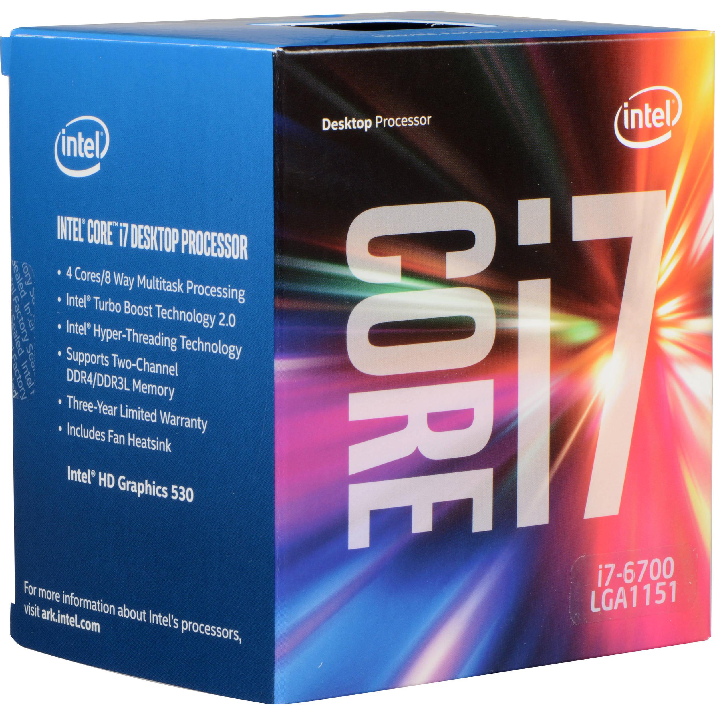 Intel Core i7-6700 3 4 GHz Quad-Core Processor (Retail)
