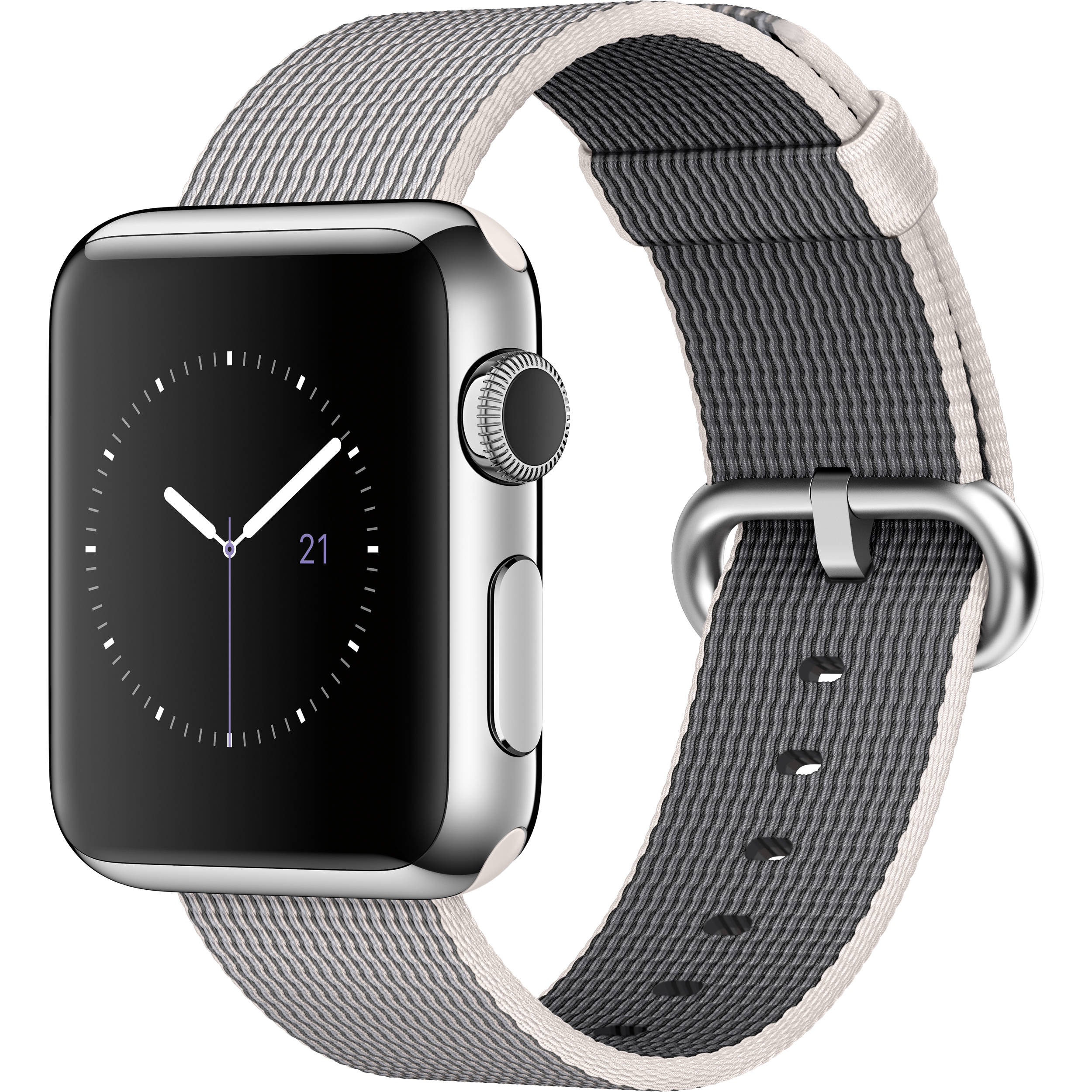 lowest price 7ce91 b6118 Apple Watch 38mm Smartwatch (2015, Stainless Steel Case, Pearl Woven Nylon  Band)