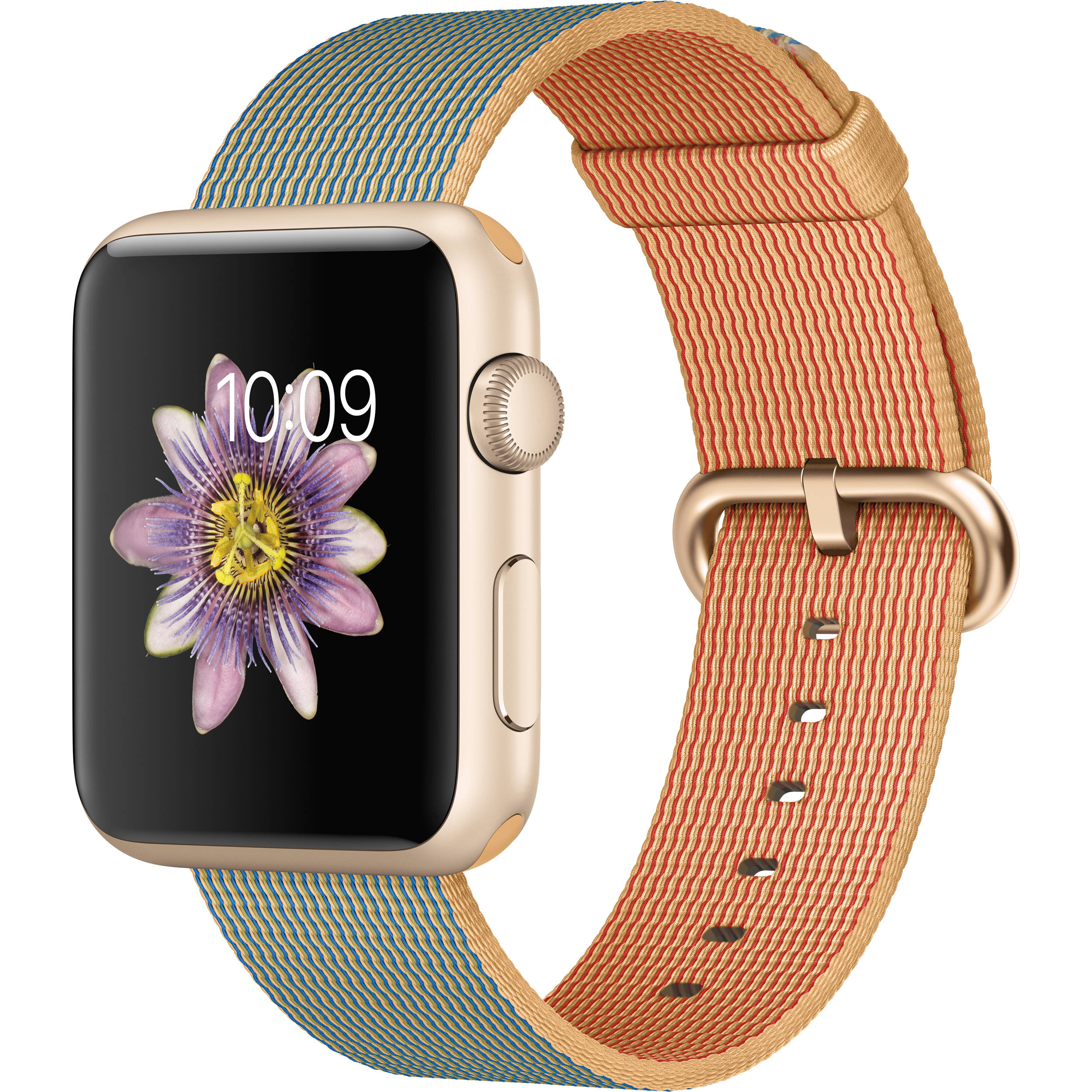 new product 2cee8 ab81a Apple Watch Sport 42mm Smartwatch (2015, Gold Aluminum Case, Gold/Royal  Blue Woven Nylon Band)