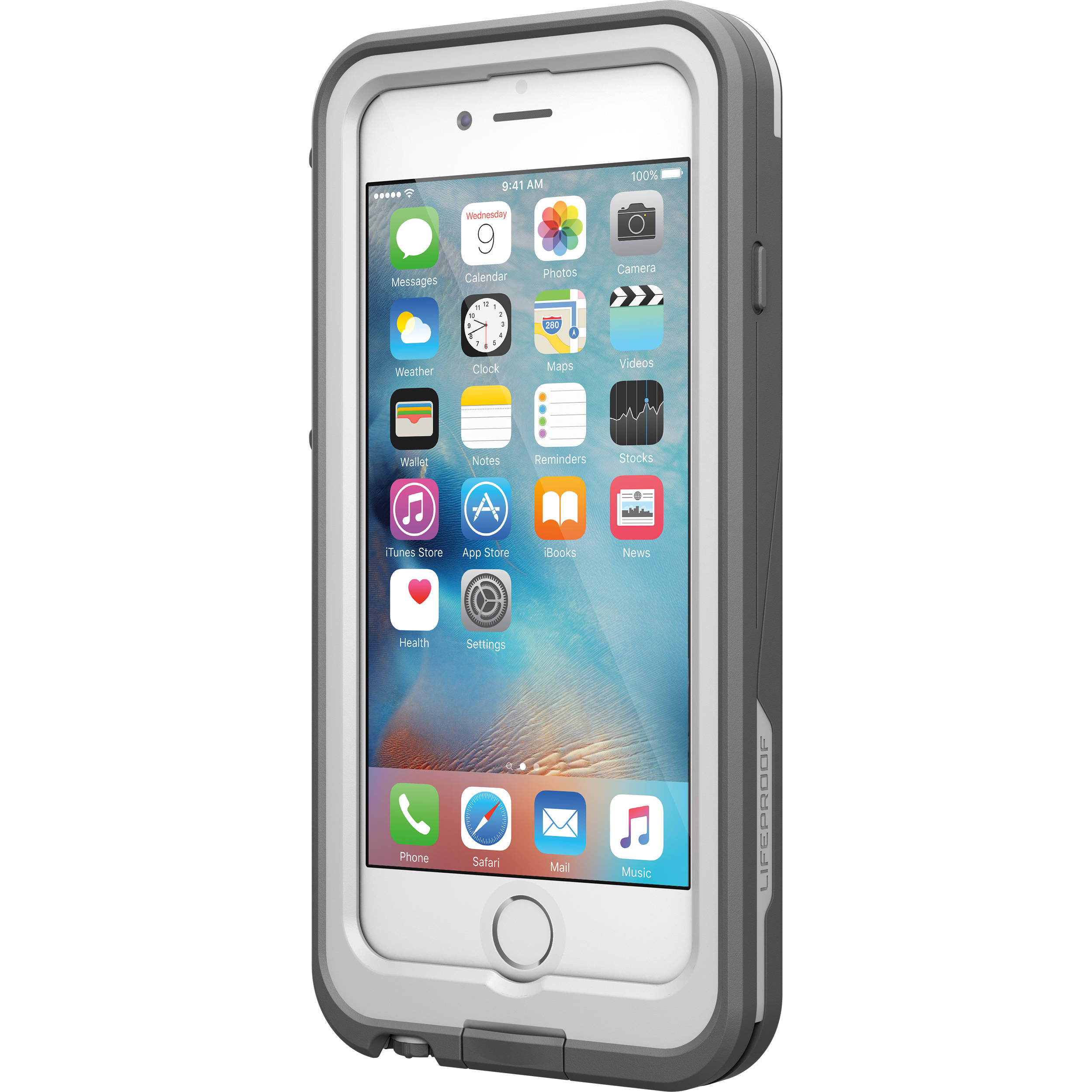 innovative design 8cfee ddb53 LifeProof frē Power 2600mAh Battery Case for iPhone 6/6s (White/Gray)