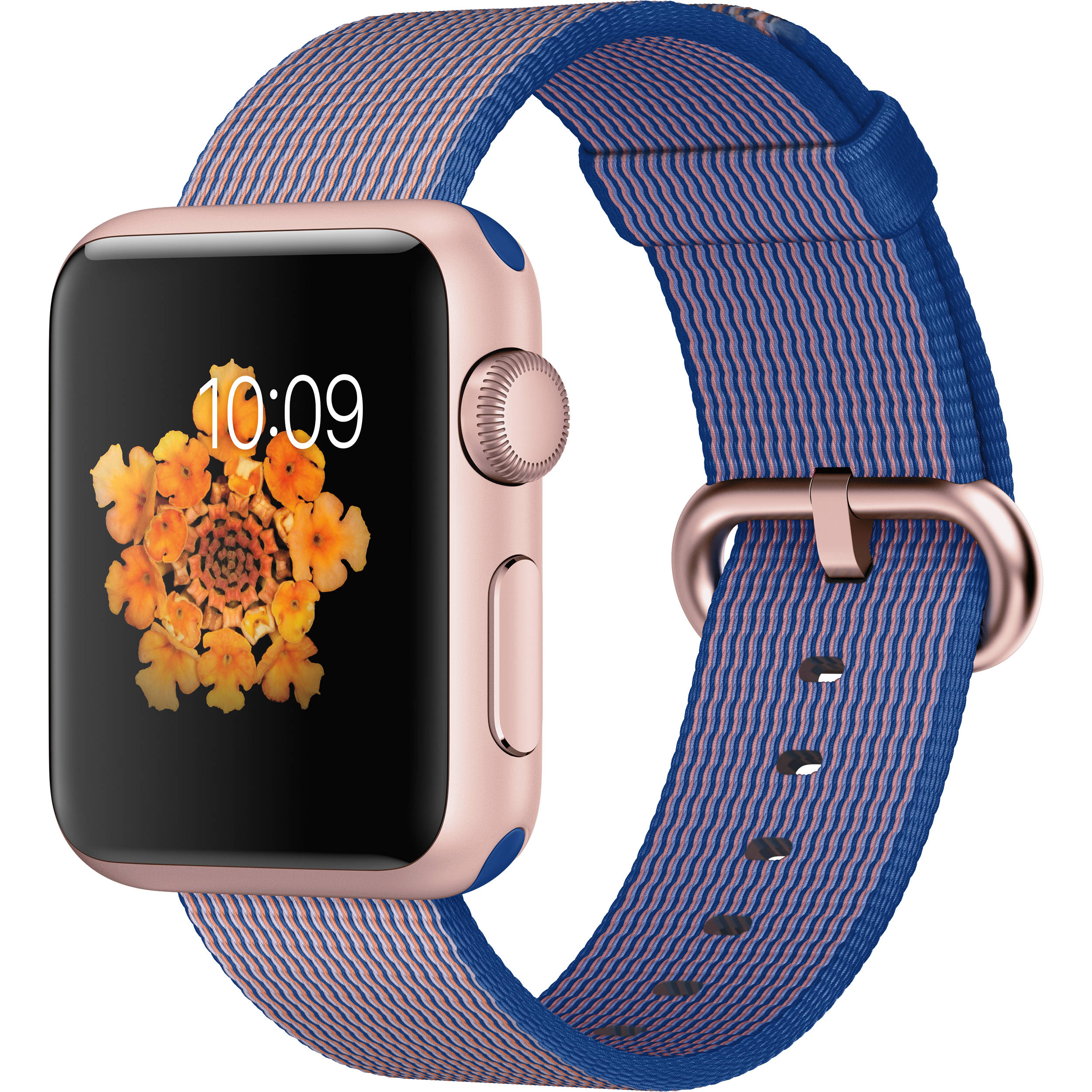 best sneakers 68571 e4b40 Apple Watch Sport 38mm Smartwatch (2015, Rose Gold Aluminum Case, Royal  Blue Woven Nylon Band)
