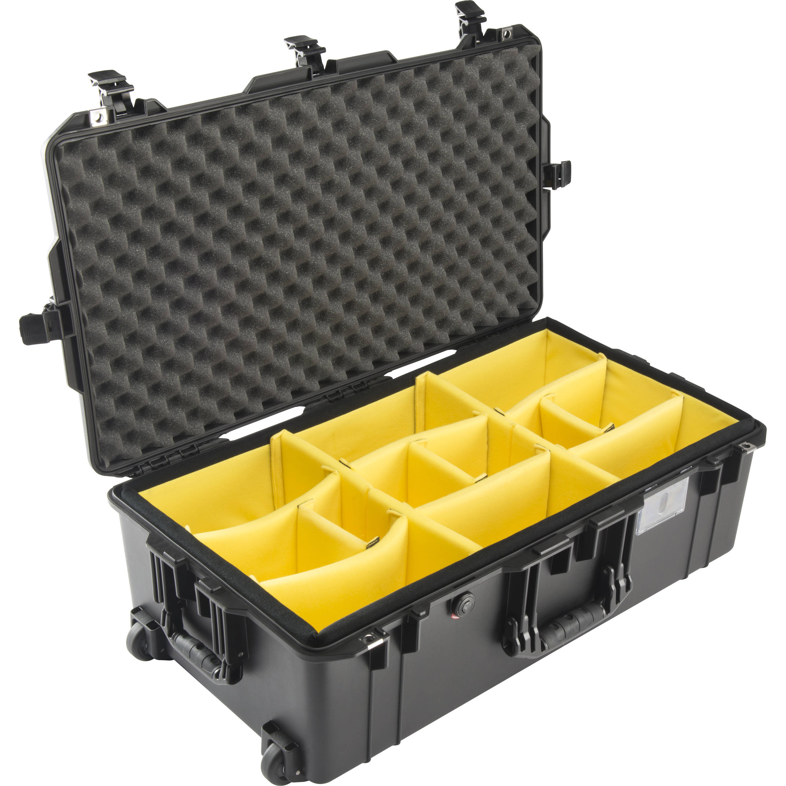 official photos 57c0c d607d Pelican 1615AirWD Wheeled Check-In Case with Dividers (Black)
