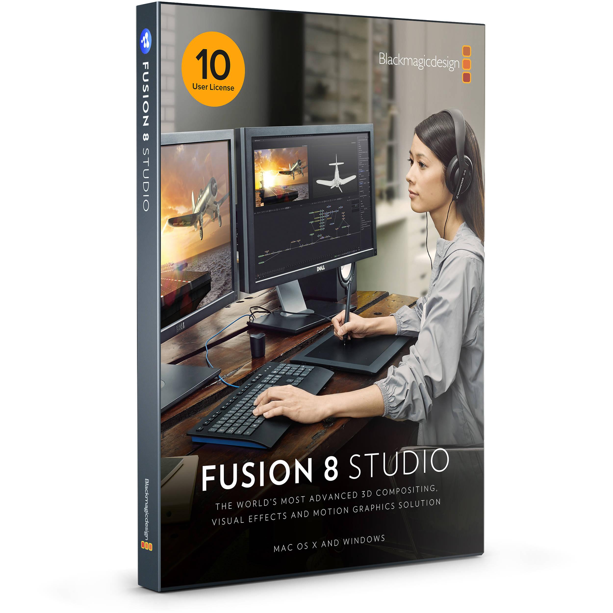 Blackmagic Design Fusion Studio Multipack Dv Stufus Nlpk10 B H