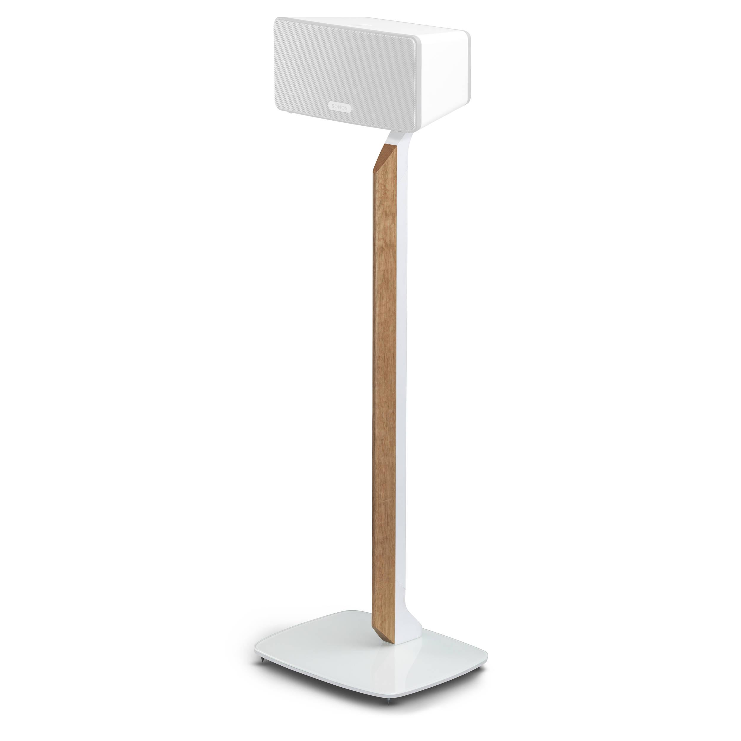 White Oak Flexson Premium Floor Stand for Sonos PLAY:5