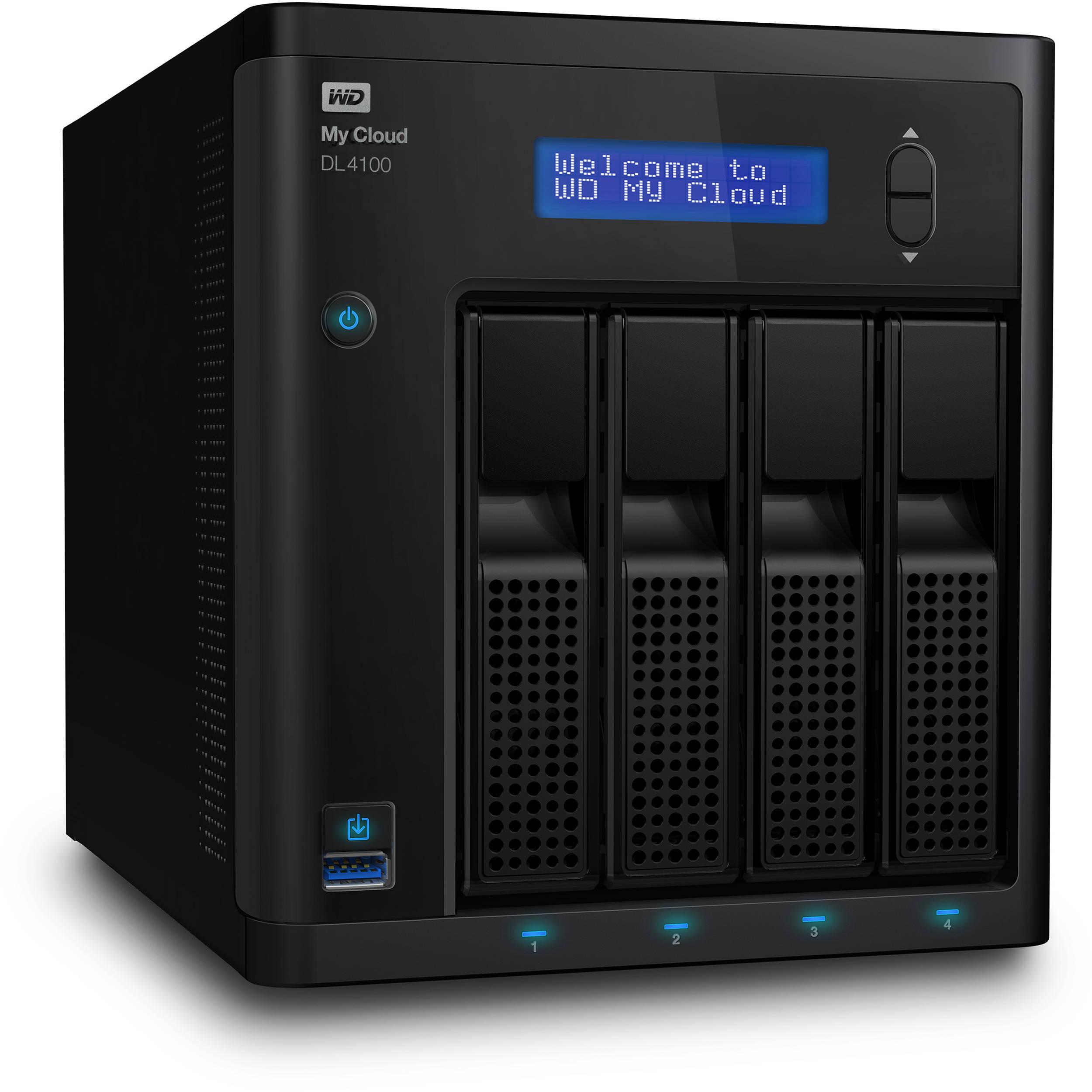WD 8TB (2 x 4TB) My Cloud Business Series DL4100 4-Bay NAS