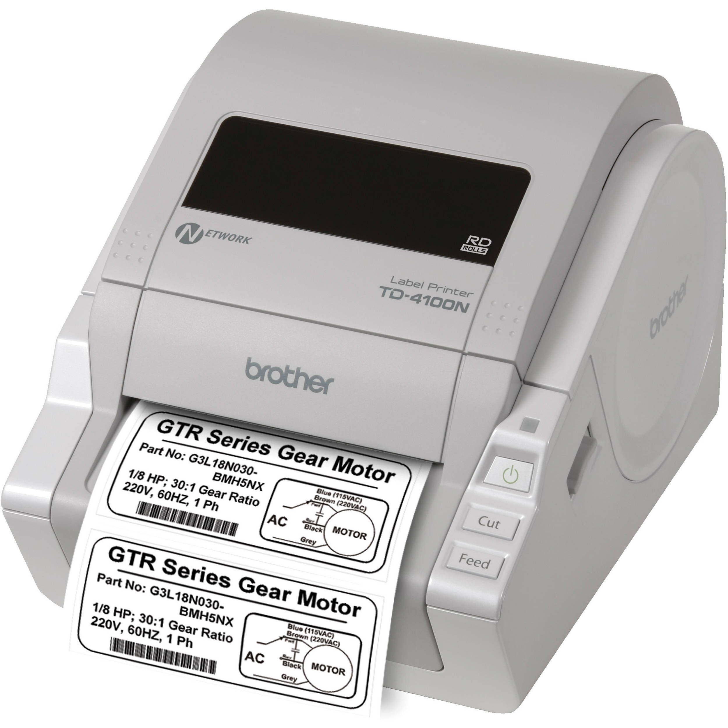 Brother TD-4100N Desktop Bar Code Network Printer