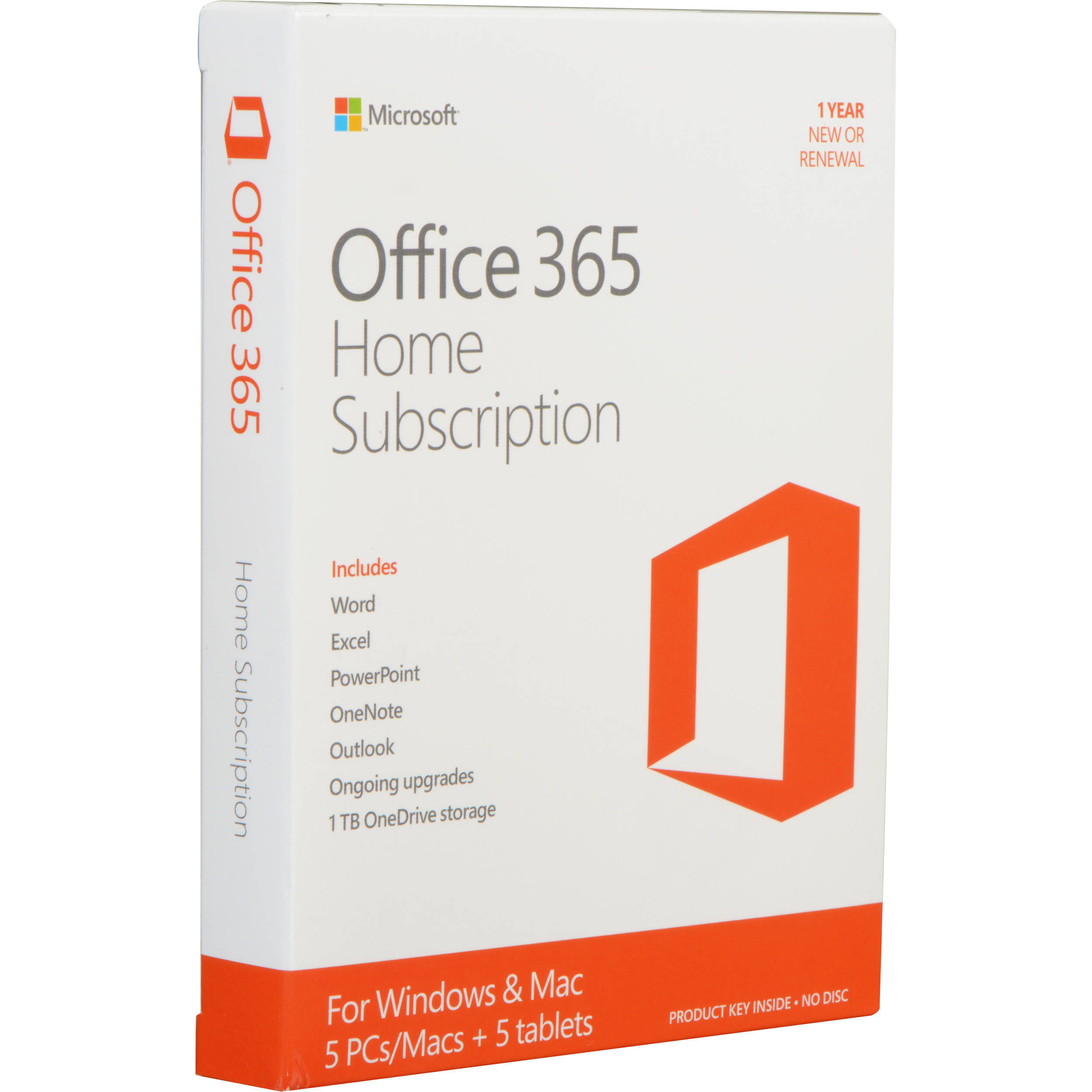 Microsoft Office 365 Home Kit (5 PC or Mac Licenses / 1-Year / Product Key  Code)