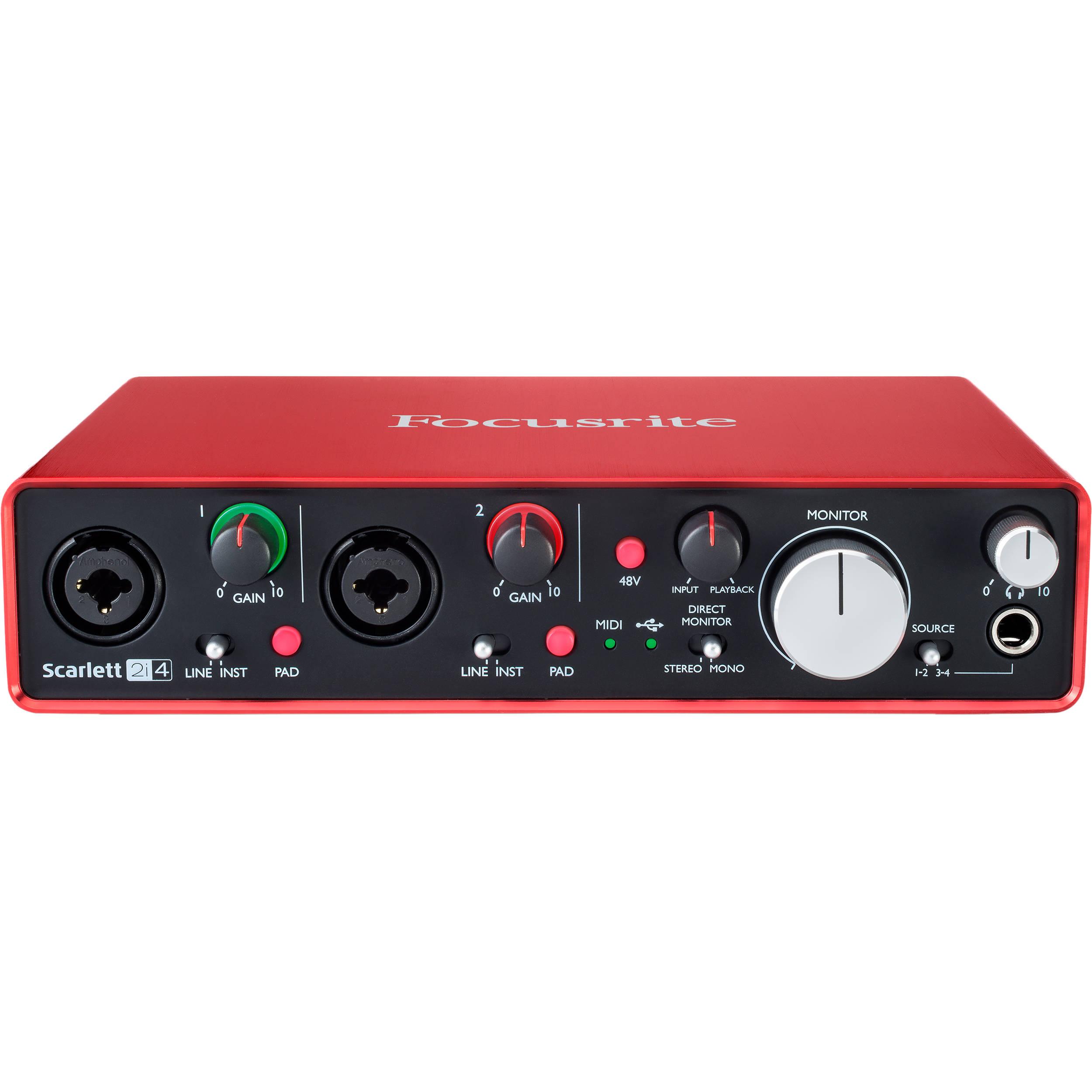 Focusrite Scarlett 2i4 USB Audio Interface (2nd Generation)