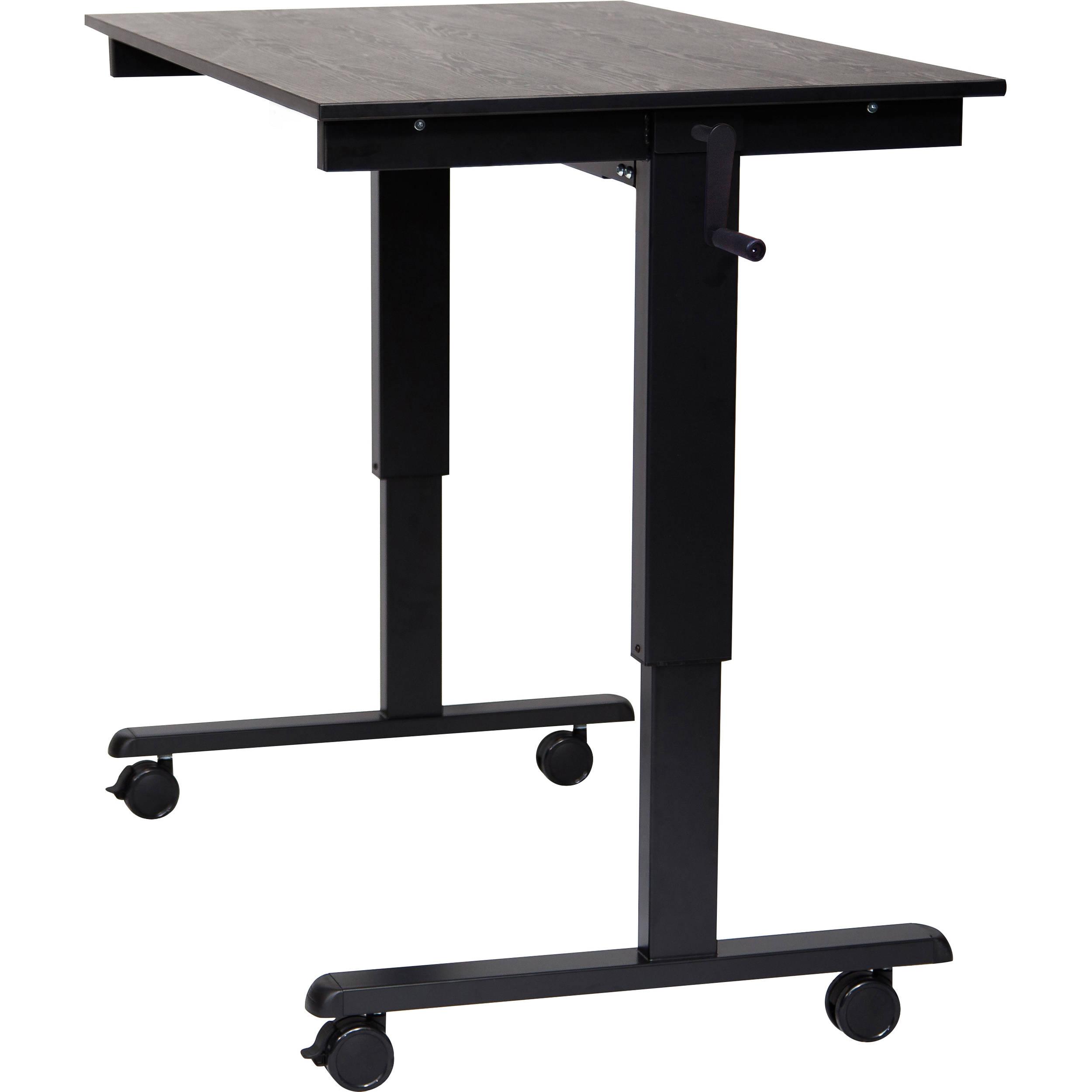 Swell Luxor 48 Crank Adjustable Stand Up Desk Black Oak Desk Black Frame Download Free Architecture Designs Grimeyleaguecom