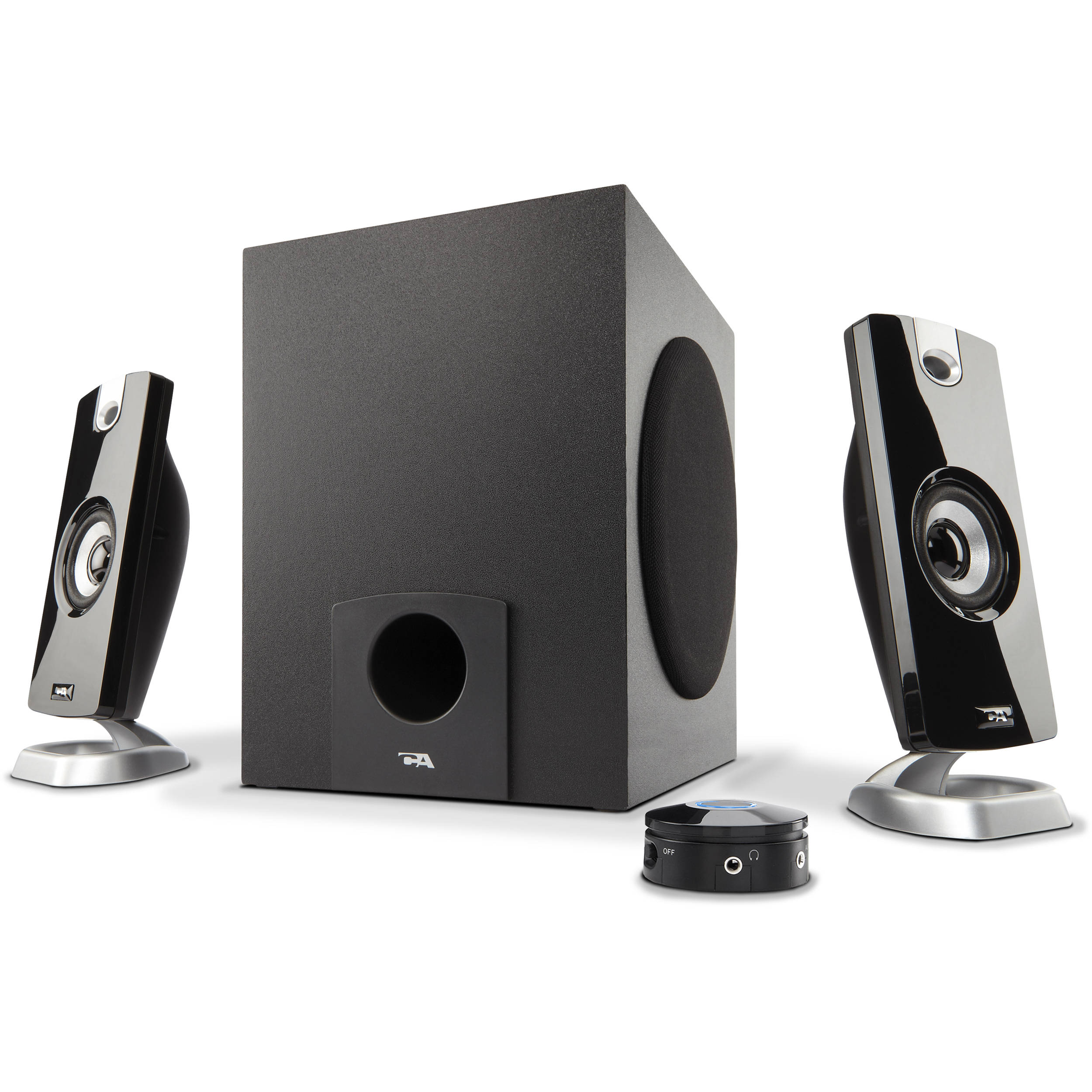 Cyber Acoustics CA-3090 3-Piece Flat Panel Design Subwoofer & Satellite  Speaker System