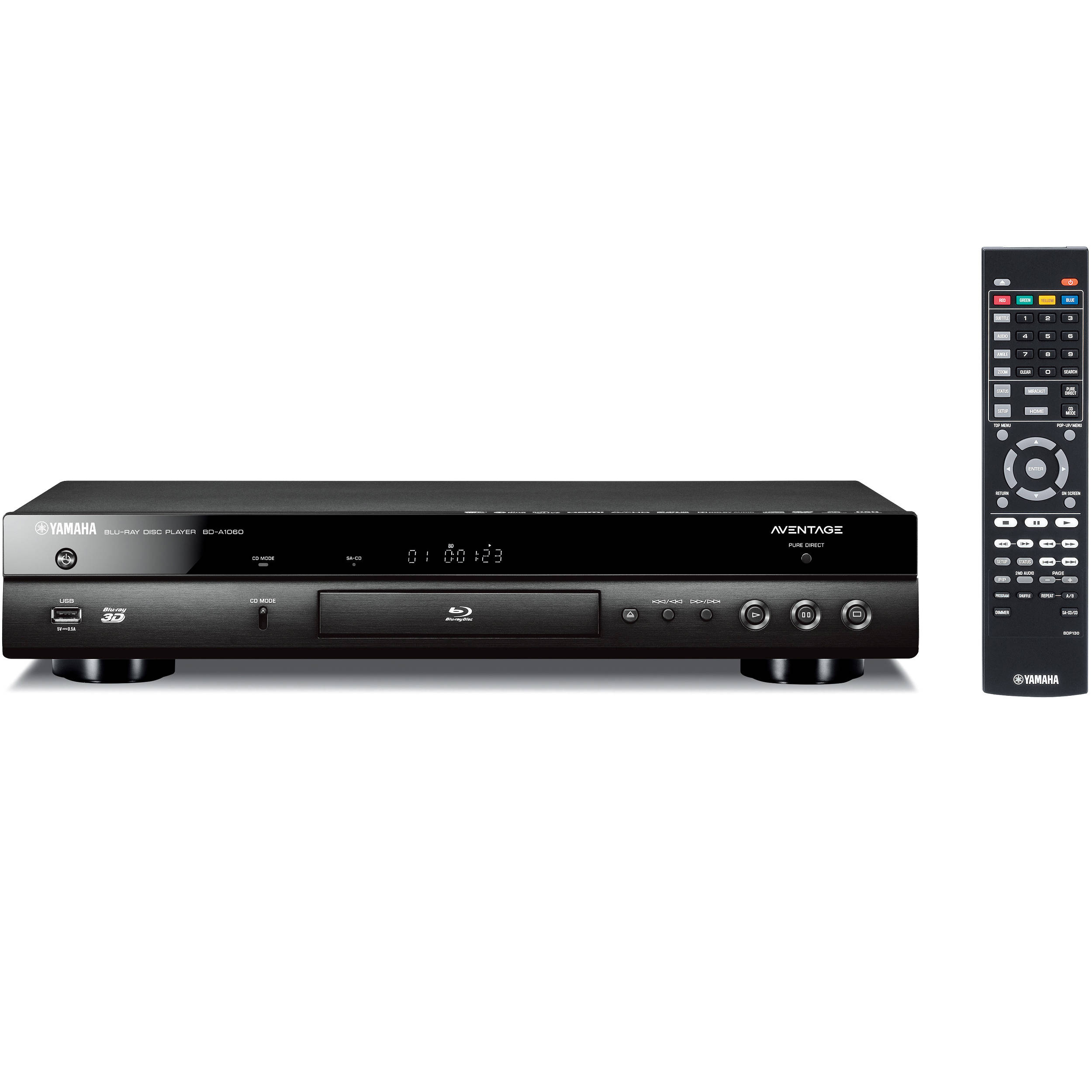 Yamaha AVENTAGE BD-A1060 4K Upscaling Wi-Fi and 3D Blu-ray Disc Player  (Black)
