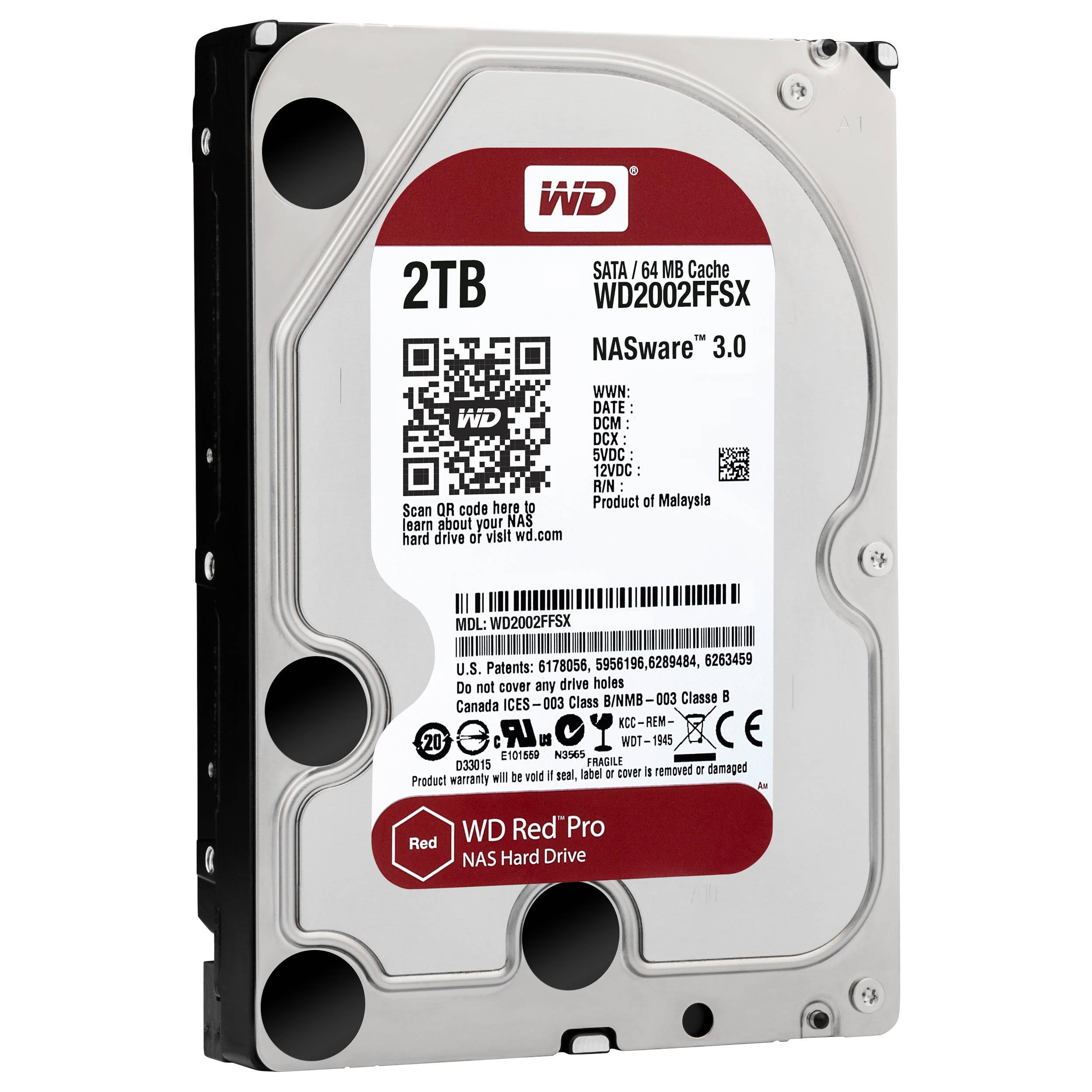 WD 2TB Red Pro 7200 rpm SATA III 3 5