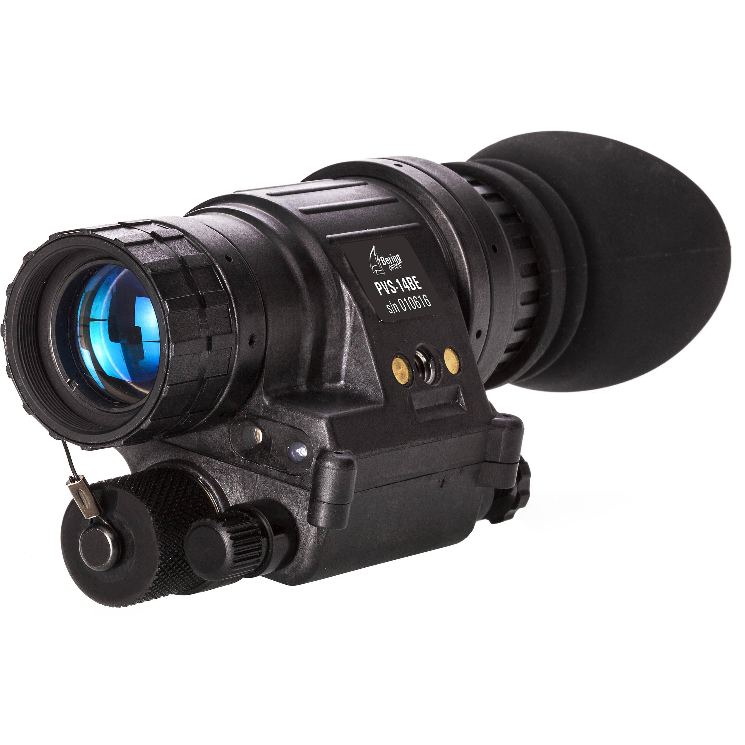 Bering Optics PVS-14BE Elite 1x 3rd Gen NV Monocular & Headgear Kit (Matte  Black)