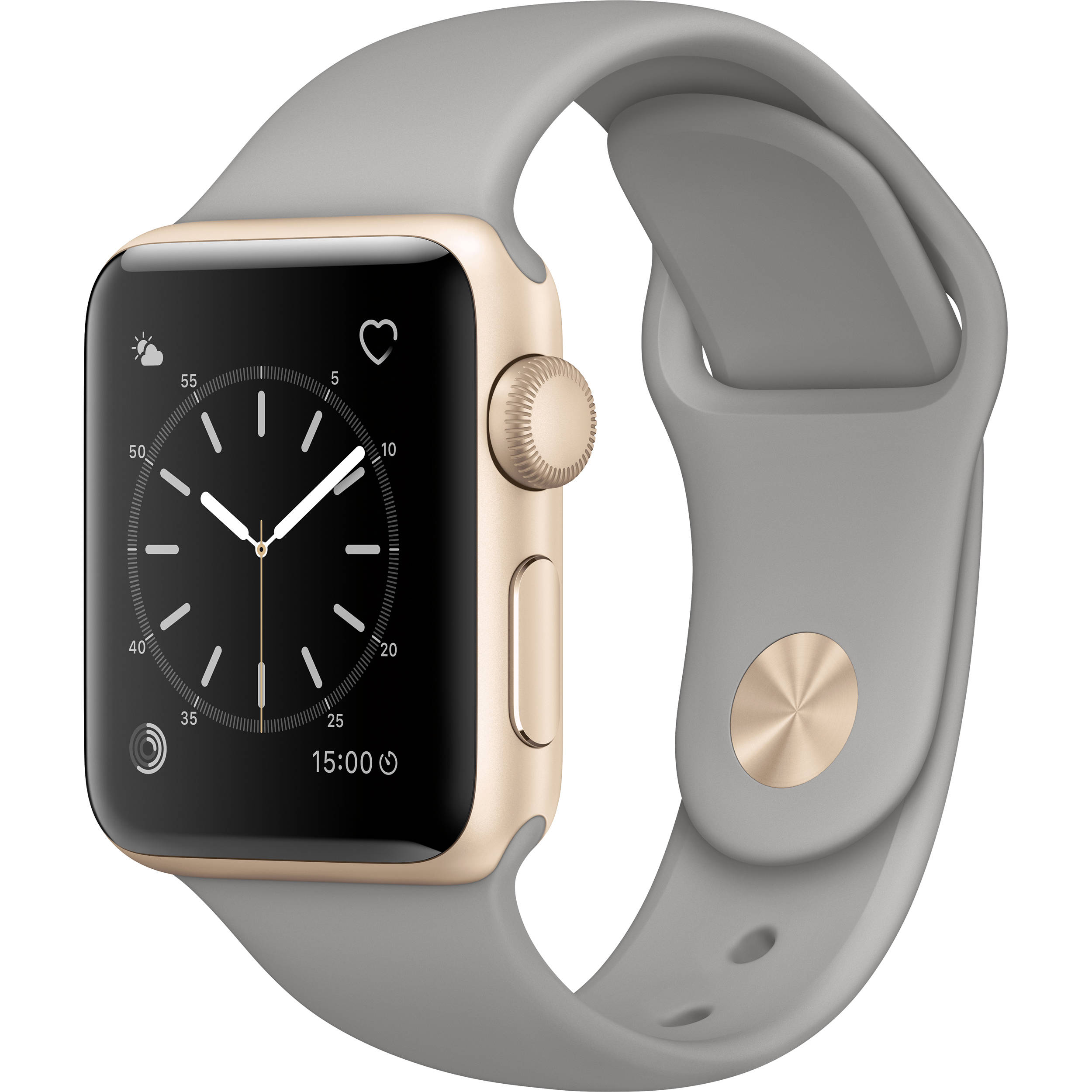 more photos 79adf e1996 Apple Watch Series 2 38mm Smartwatch (Gold Aluminum Case, Concrete Sport  Band)