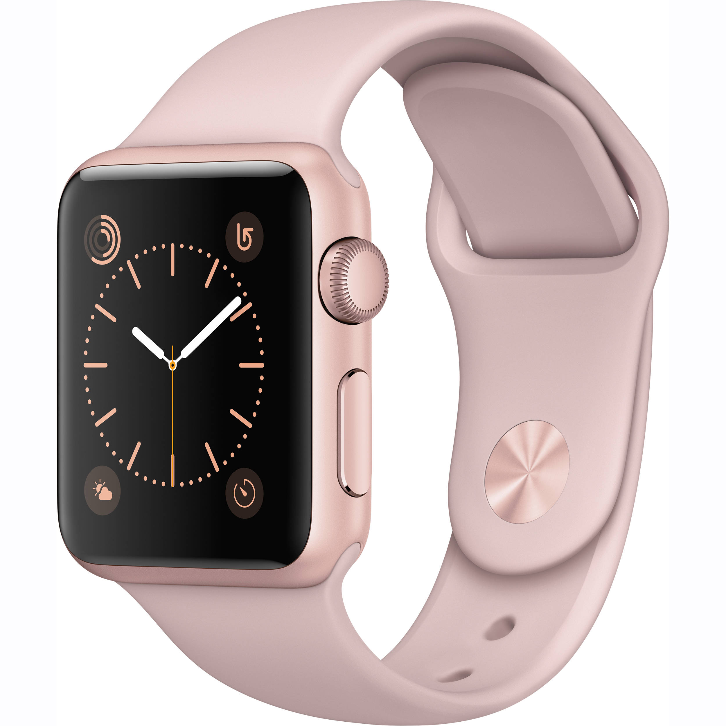 best loved 06c5c 58fa3 Apple Watch Series 1 38mm Smartwatch (Rose Gold Aluminum Case, Pink Sand  Sport Band)