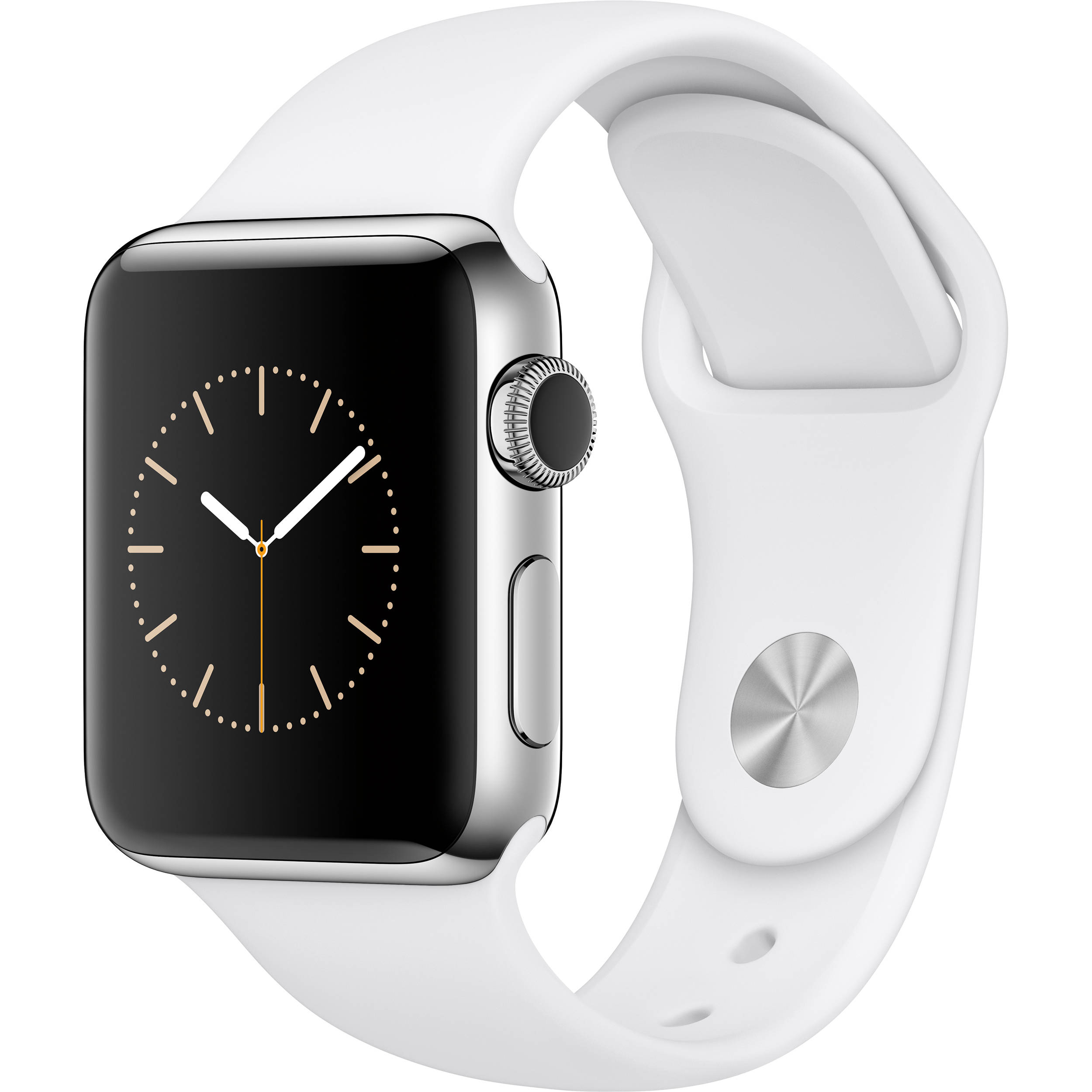 buy online 8f52a df176 Apple Watch Series 2 38mm Smartwatch ( Stainless Steel Case, White Sport  Band)