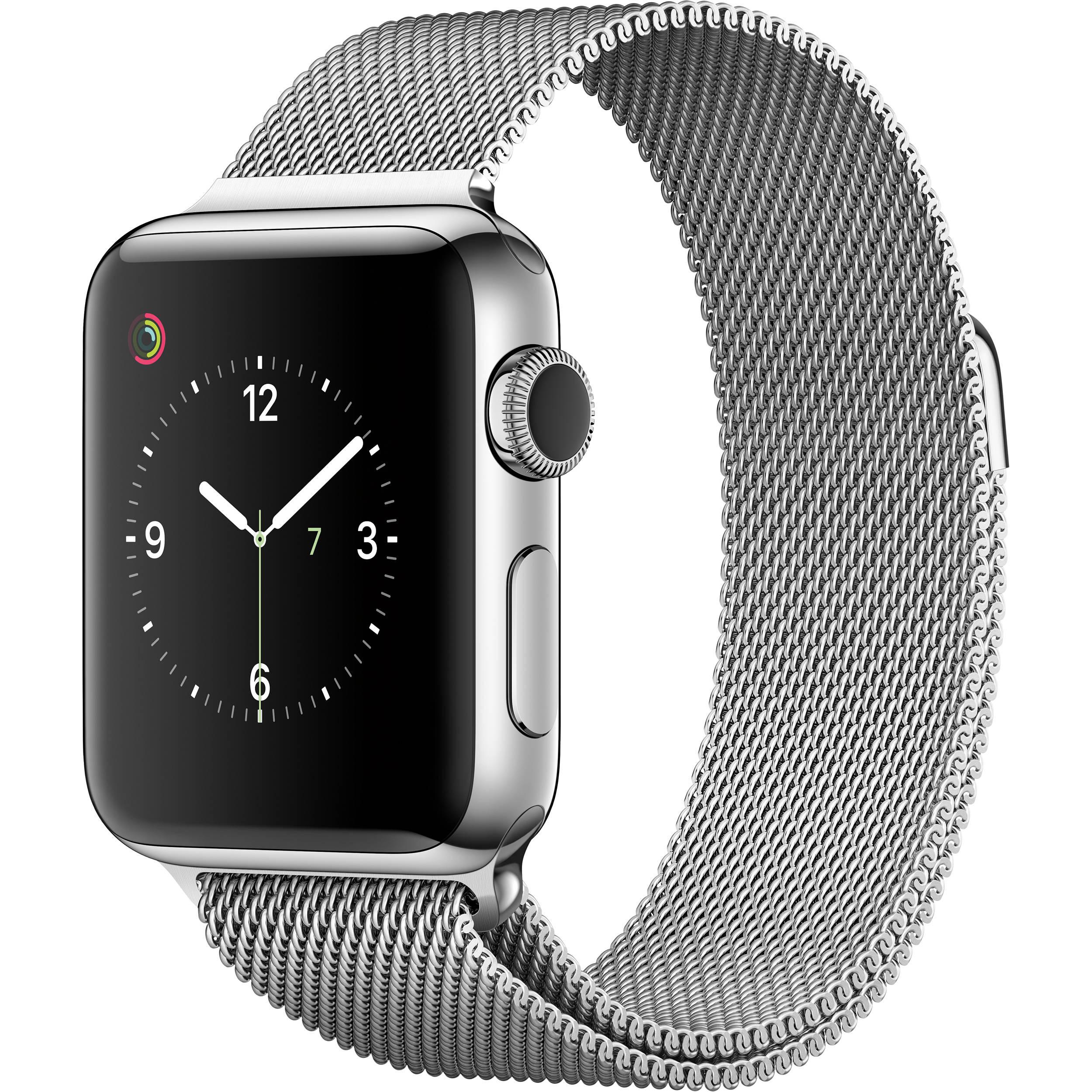 online store bdf96 8765c Apple Watch Series 2 38mm Smartwatch ( Stainless Steel Case, Milanese Loop  Band)